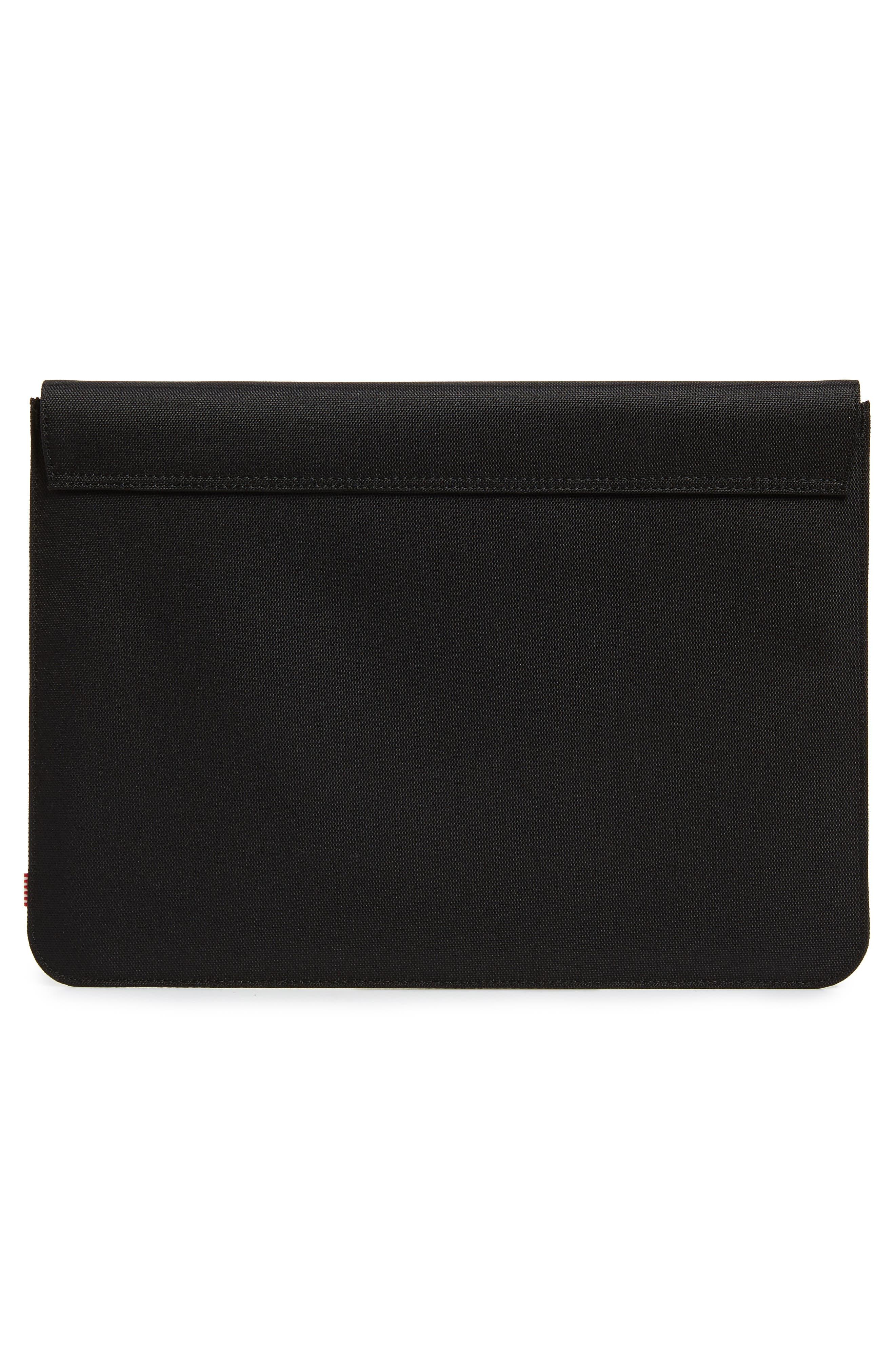 Spokane 13-Inch MacBook Canvas Sleeve,                             Alternate thumbnail 4, color,                             BLACK