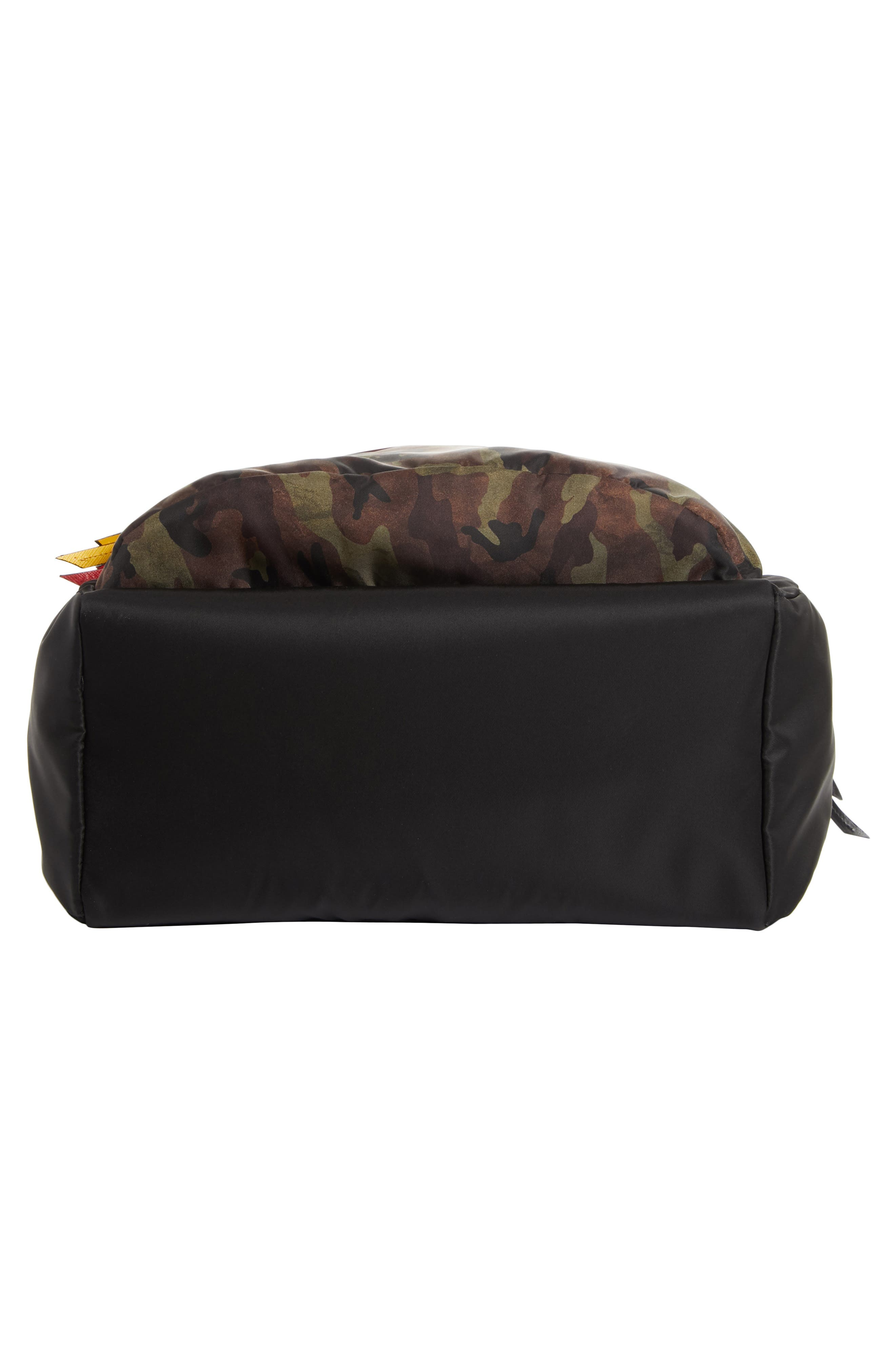 Tessuto Camo Patch Nylon Backpack,                             Alternate thumbnail 6, color,                             CAMO