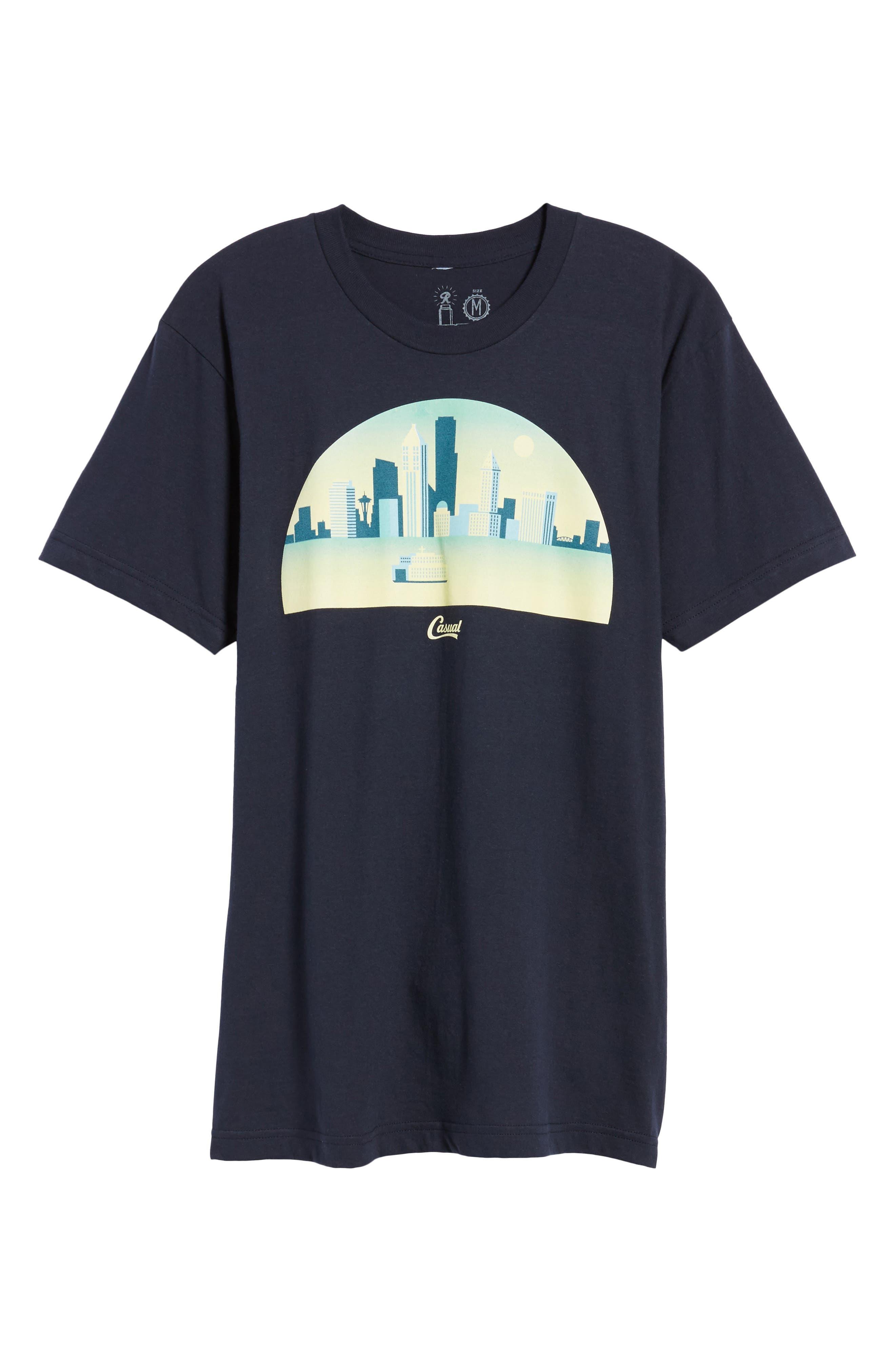 Skyline Arch 3D Graphic T-Shirt,                             Alternate thumbnail 6, color,                             411