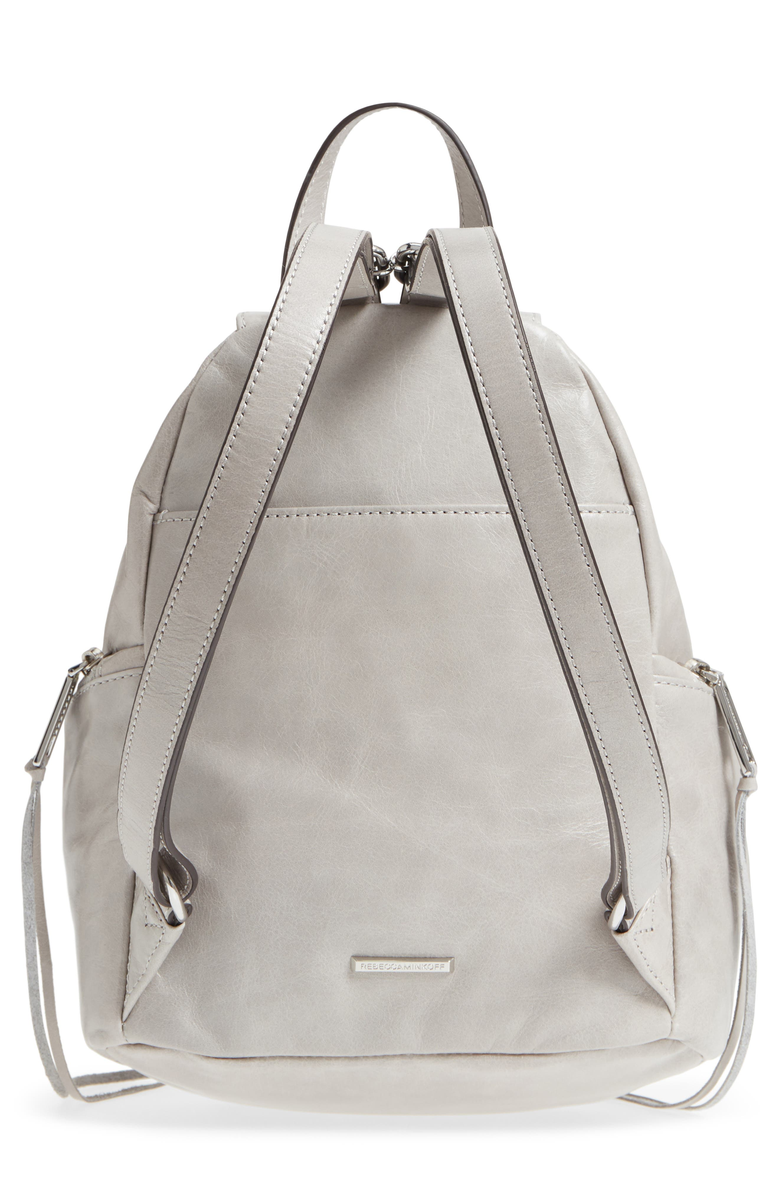 Medium Julian Leather Backpack,                             Alternate thumbnail 3, color,                             090