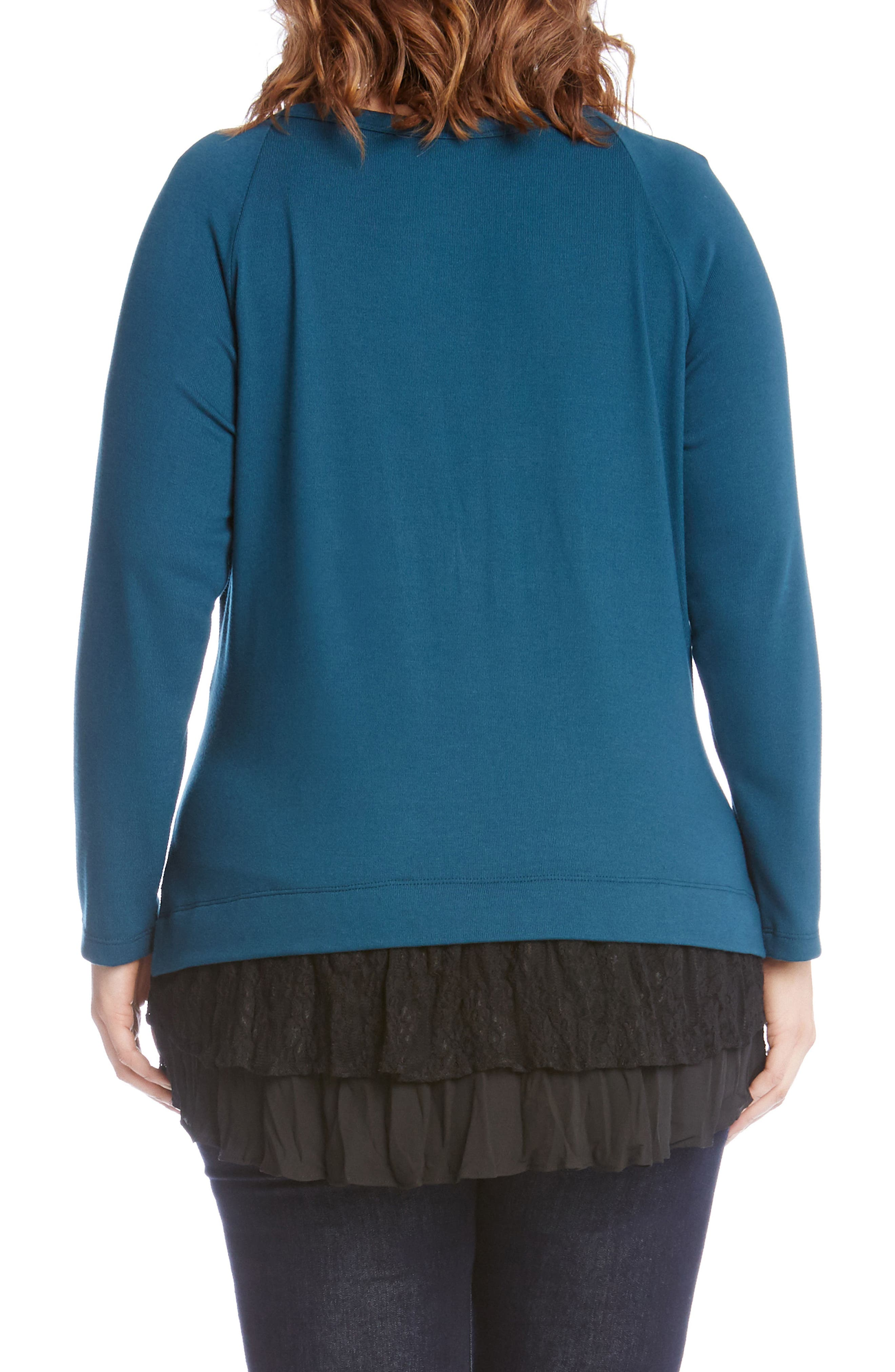 Lace Inset Sweater,                             Alternate thumbnail 2, color,                             340