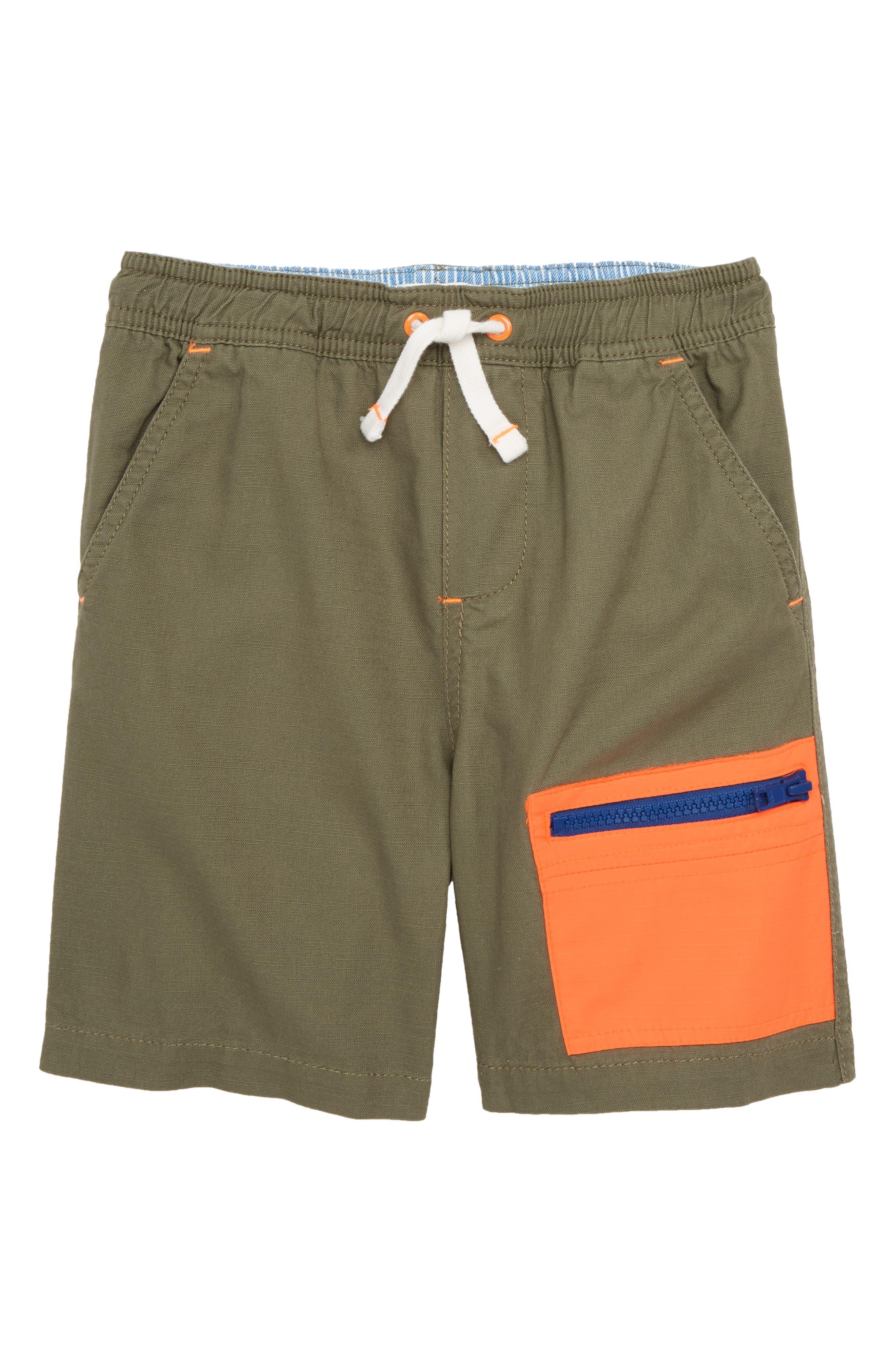 MINI BODEN Colorblock Shorts, Main, color, 304