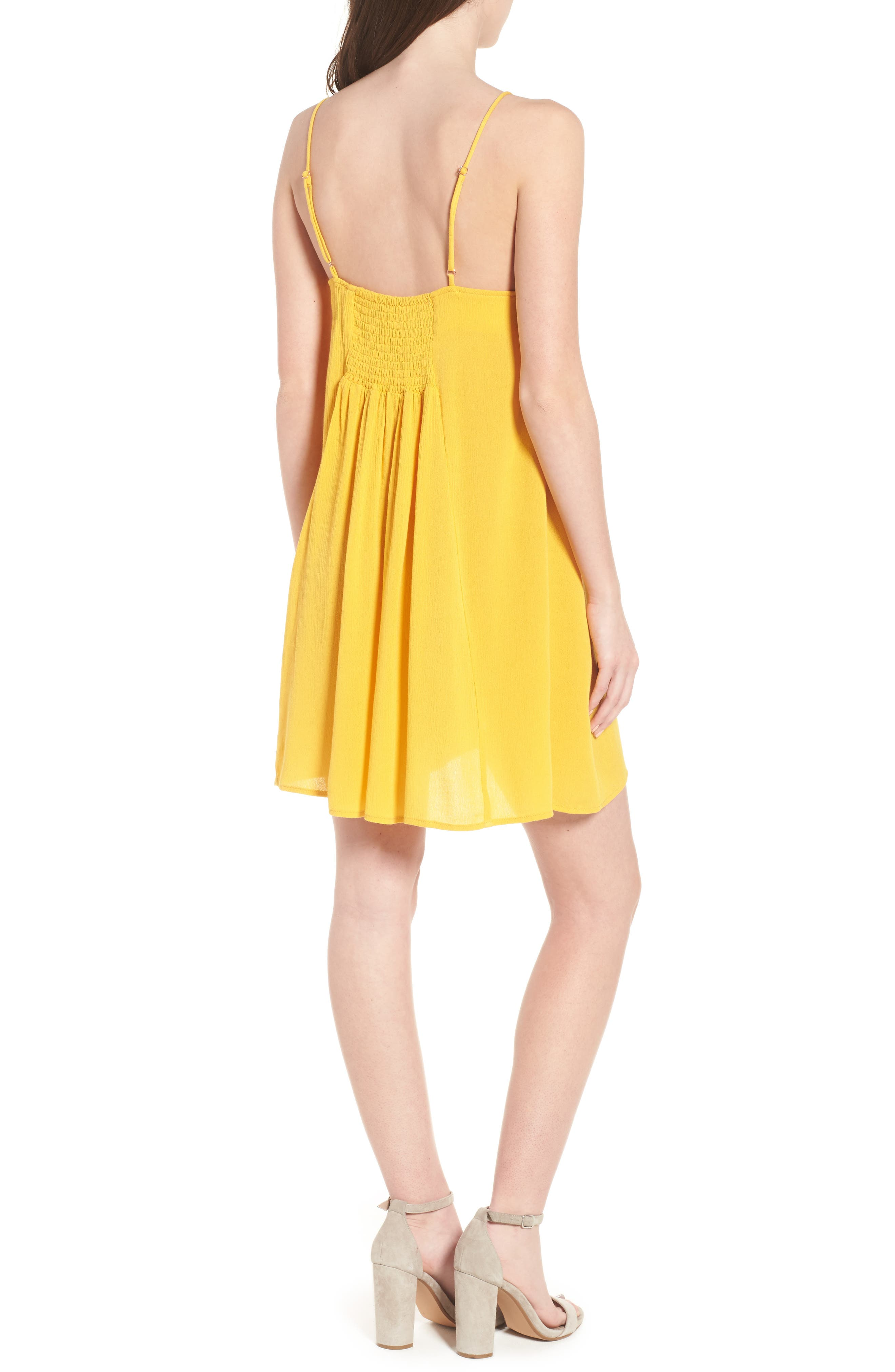 Shine For You Knot Front Dress,                             Alternate thumbnail 2, color,                             701