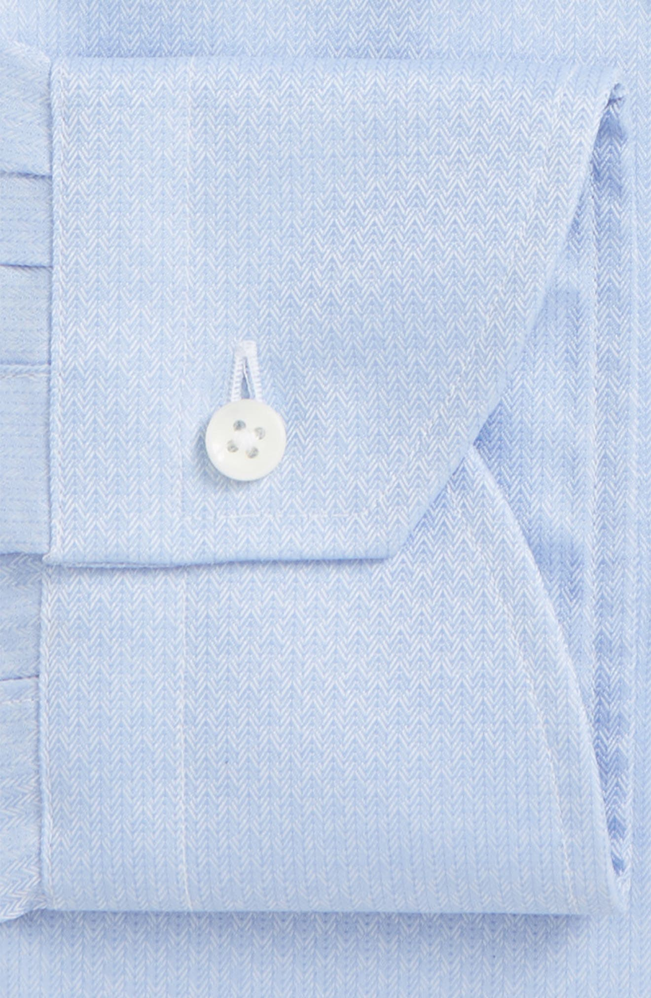 Regular Fit Herringbone Dress Shirt,                             Alternate thumbnail 2, color,                             420