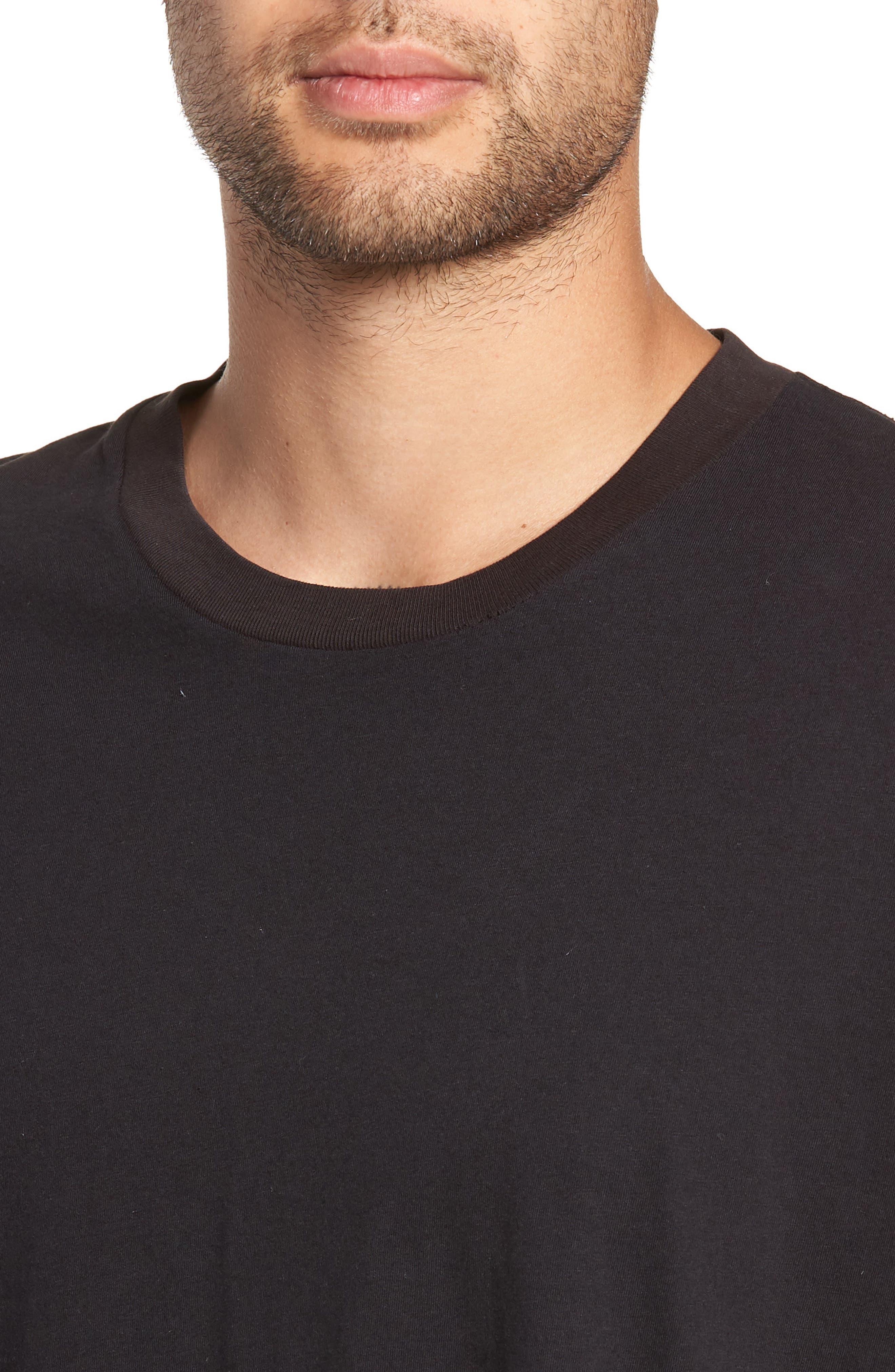 Same Old Madness Oversize T-Shirt,                             Alternate thumbnail 4, color,                             BLACK