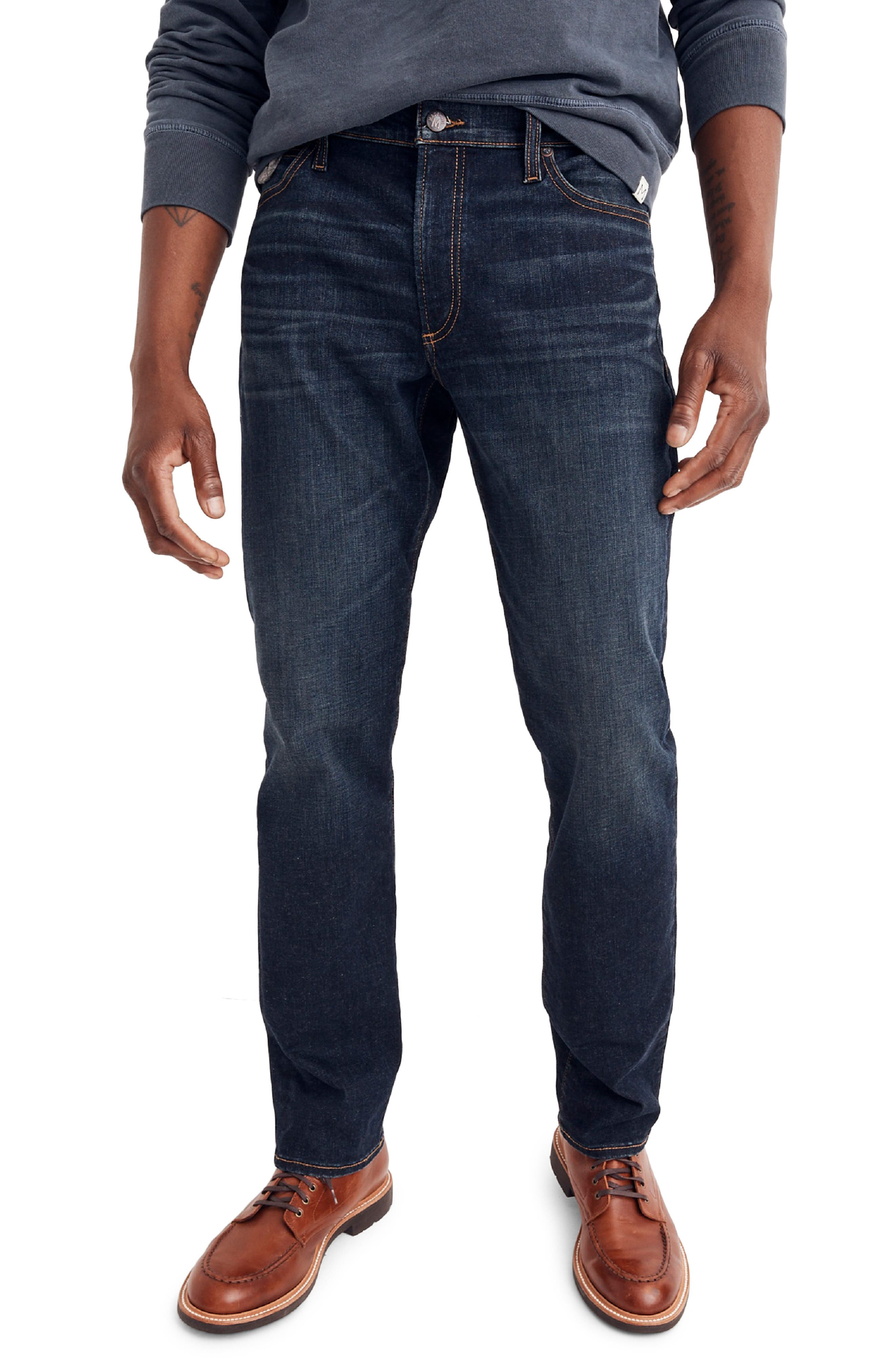 Slim Straight Fit Jeans,                         Main,                         color, BRENFORD