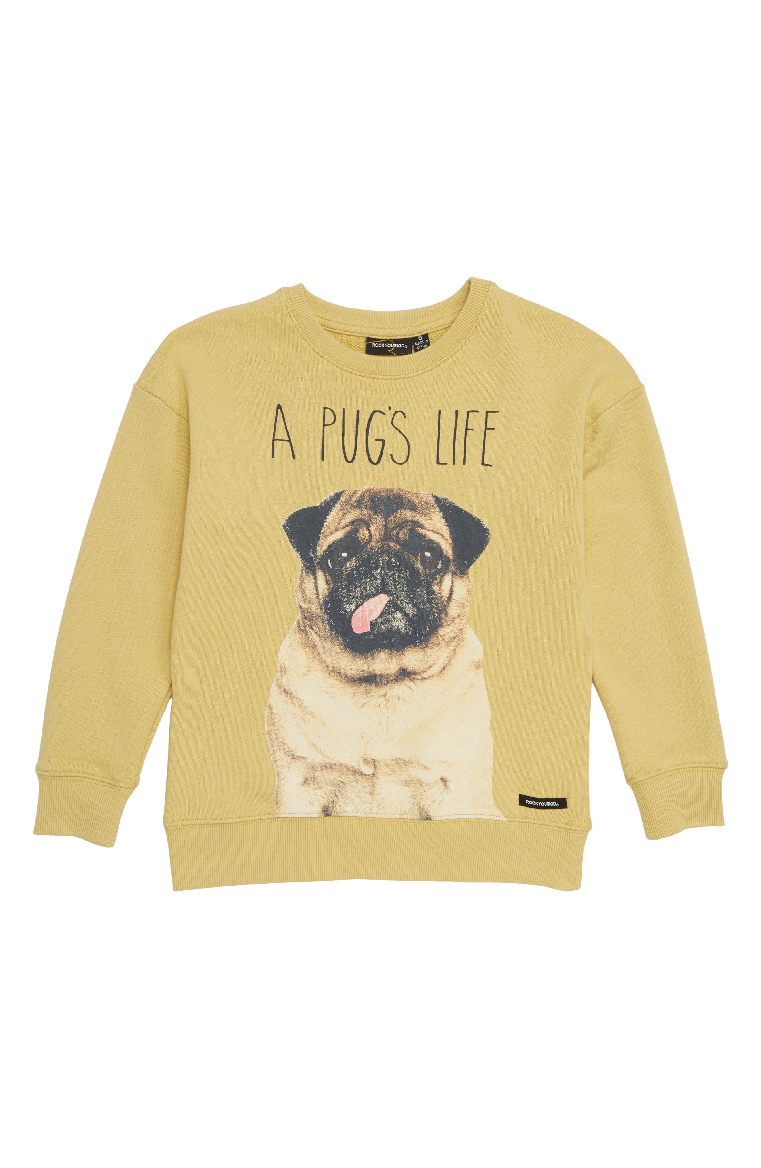 A Pug's Life Sweatshirt,                             Main thumbnail 1, color,                             250