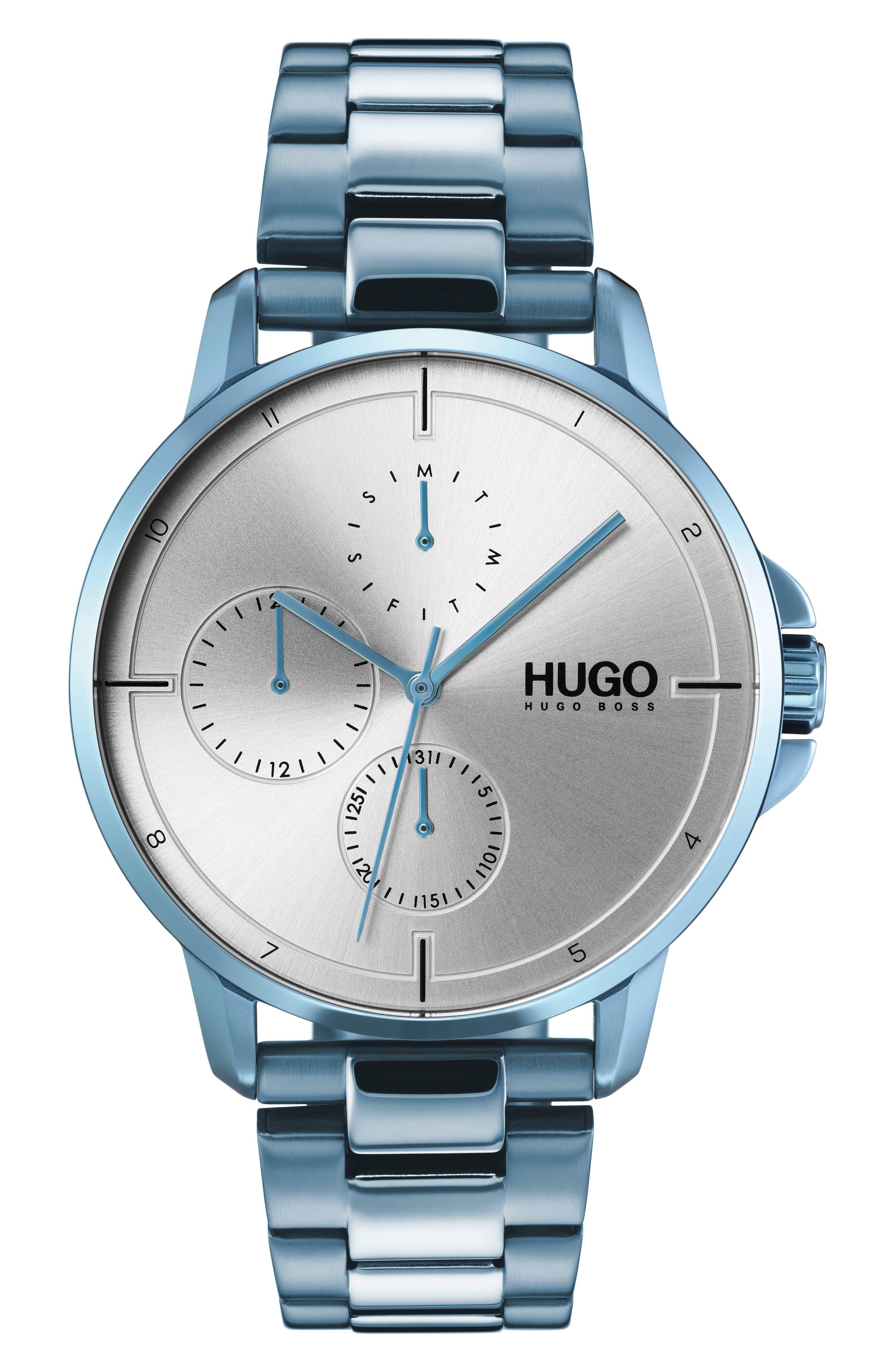 Focus Bracelet Watch, 42mm,                         Main,                         color, GREY