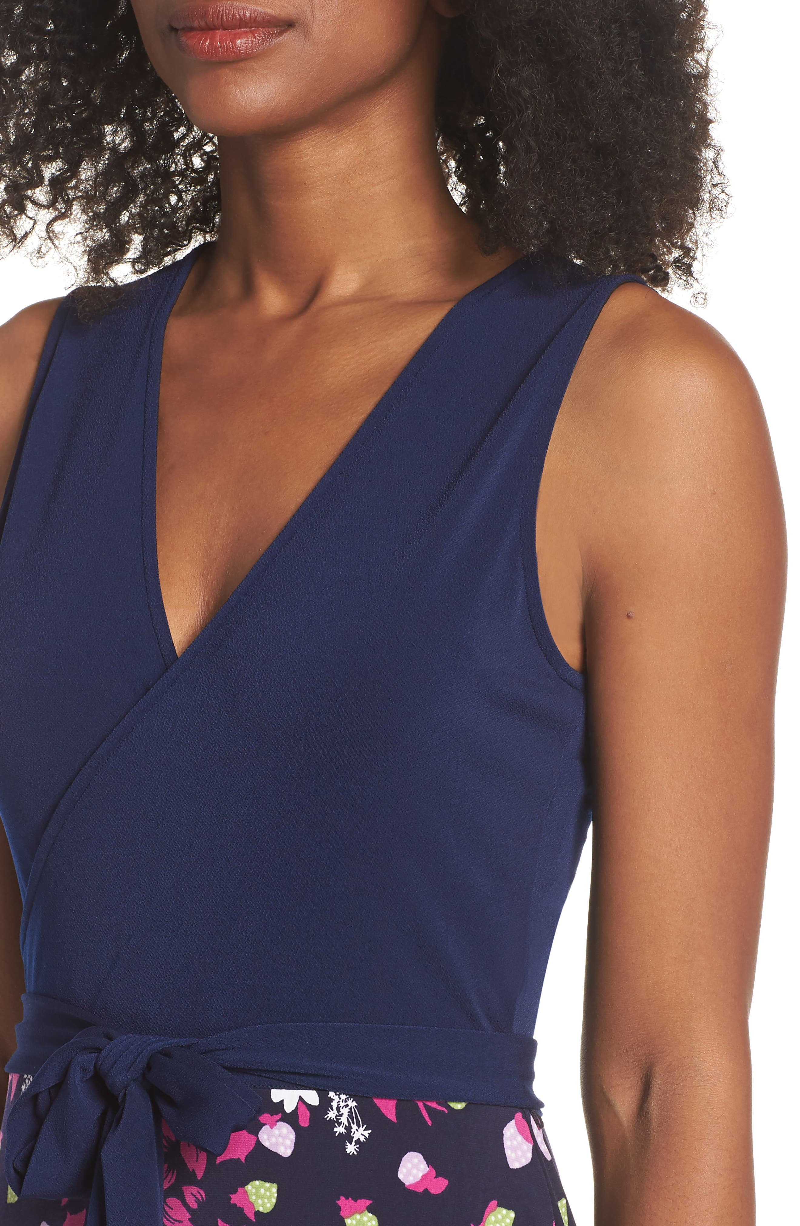 Perfect Faux Wrap Maxi Dress,                             Alternate thumbnail 4, color,                             GARDNER
