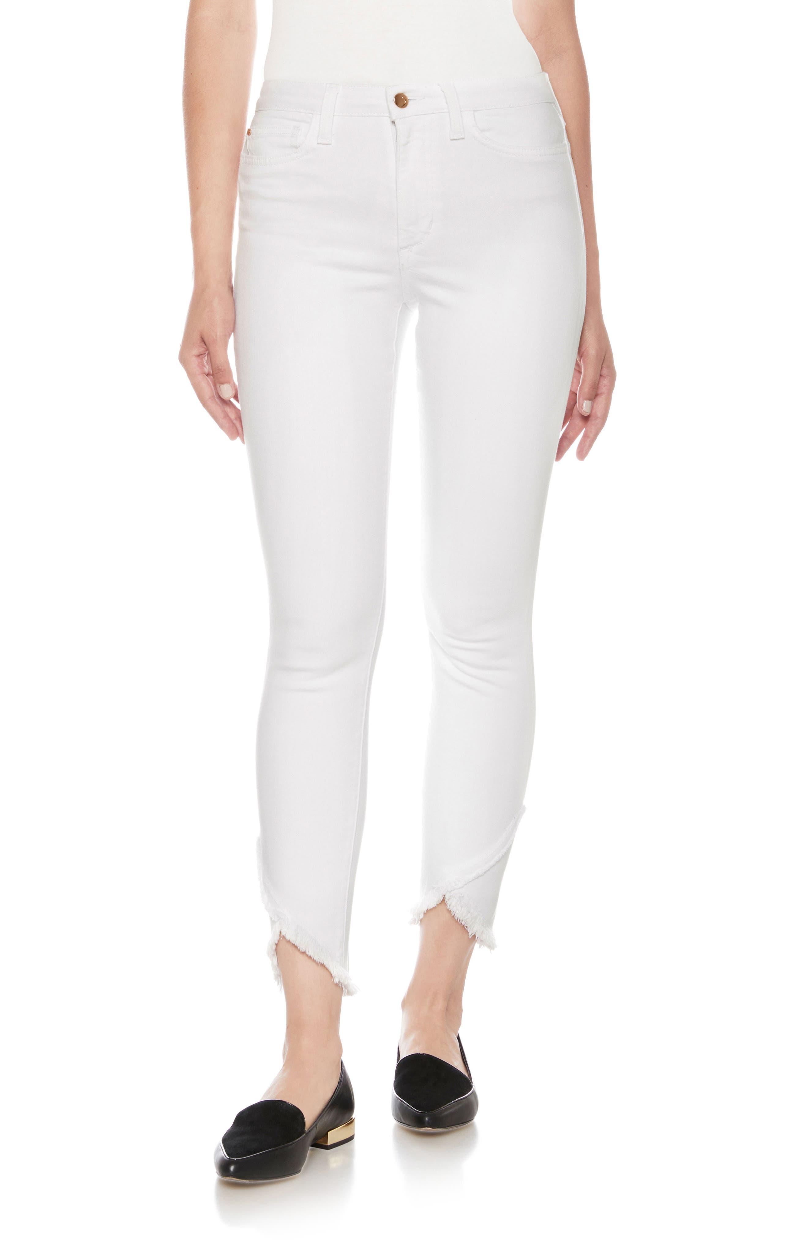 Flawless - Charlie High Waist Tulip Hem Ankle Skinny Jeans,                             Main thumbnail 1, color,                             120
