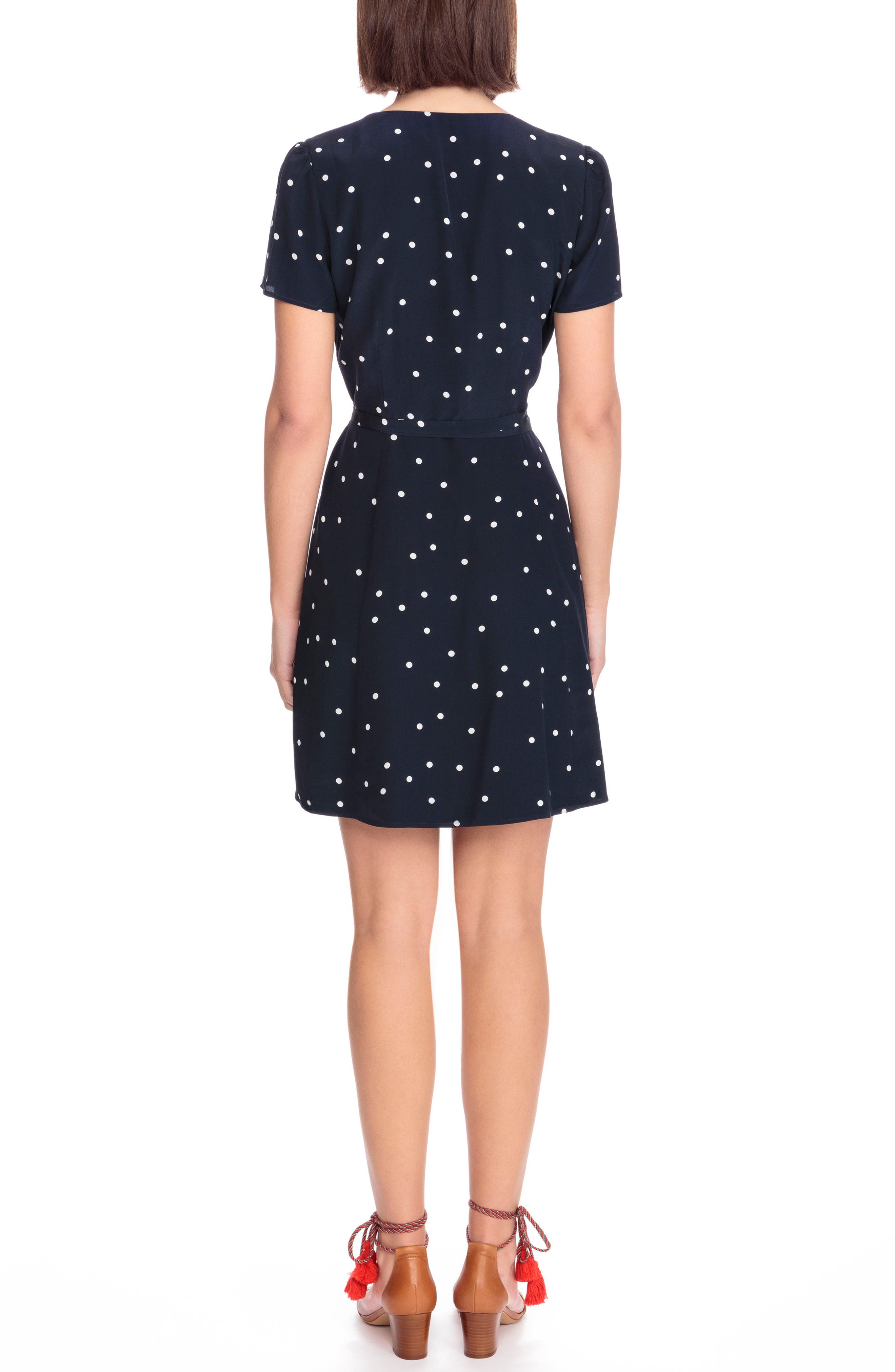 Anastasia Silk Wrap Dress,                             Alternate thumbnail 2, color,                             400