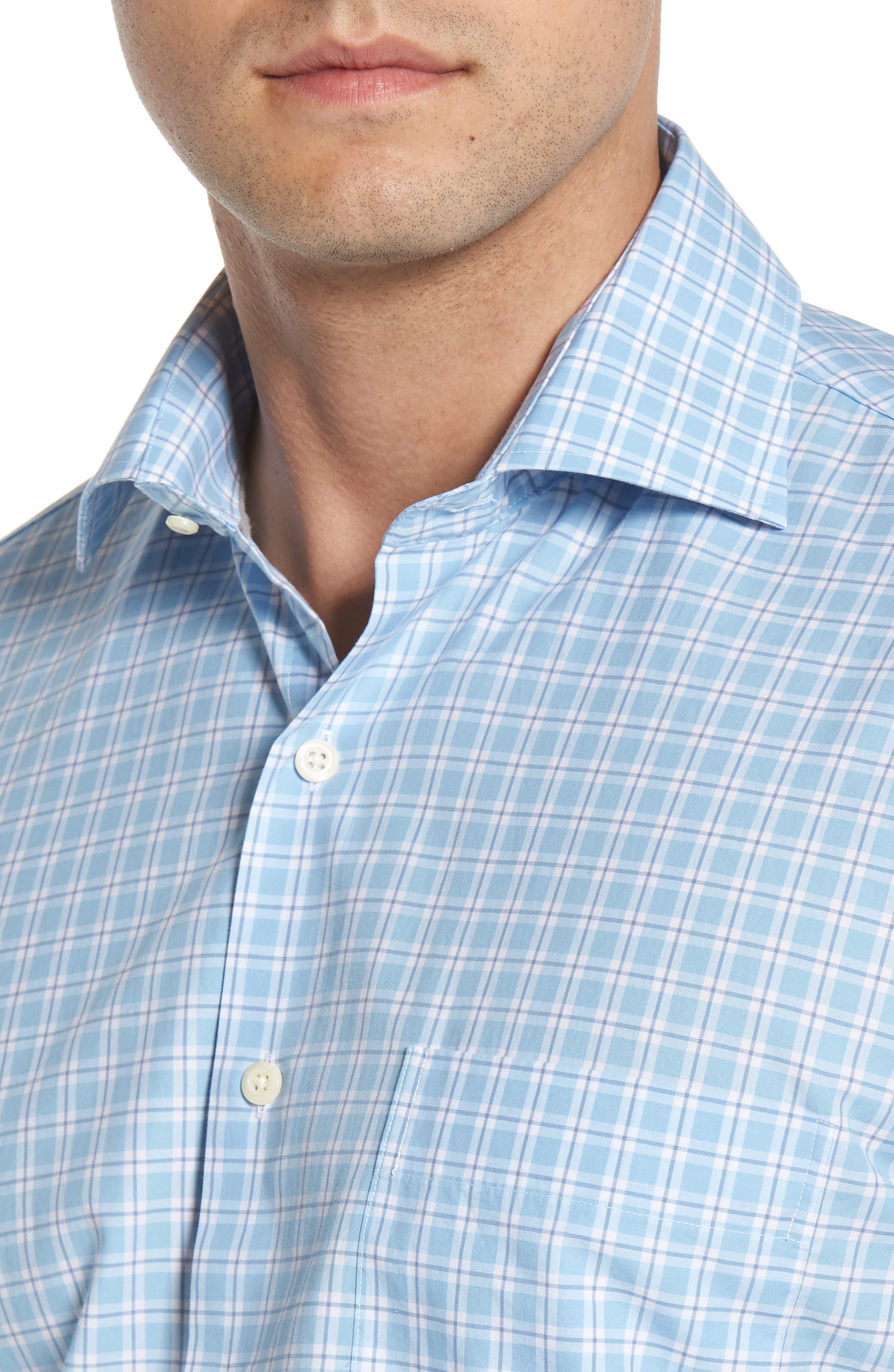 Ballard Regular Fit Check Sport Shirt,                             Alternate thumbnail 4, color,                             400