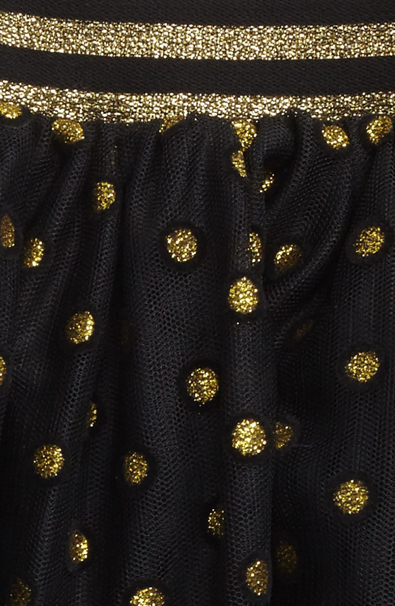Sparkle Dot Tutu Skirt,                             Alternate thumbnail 2, color,                             001