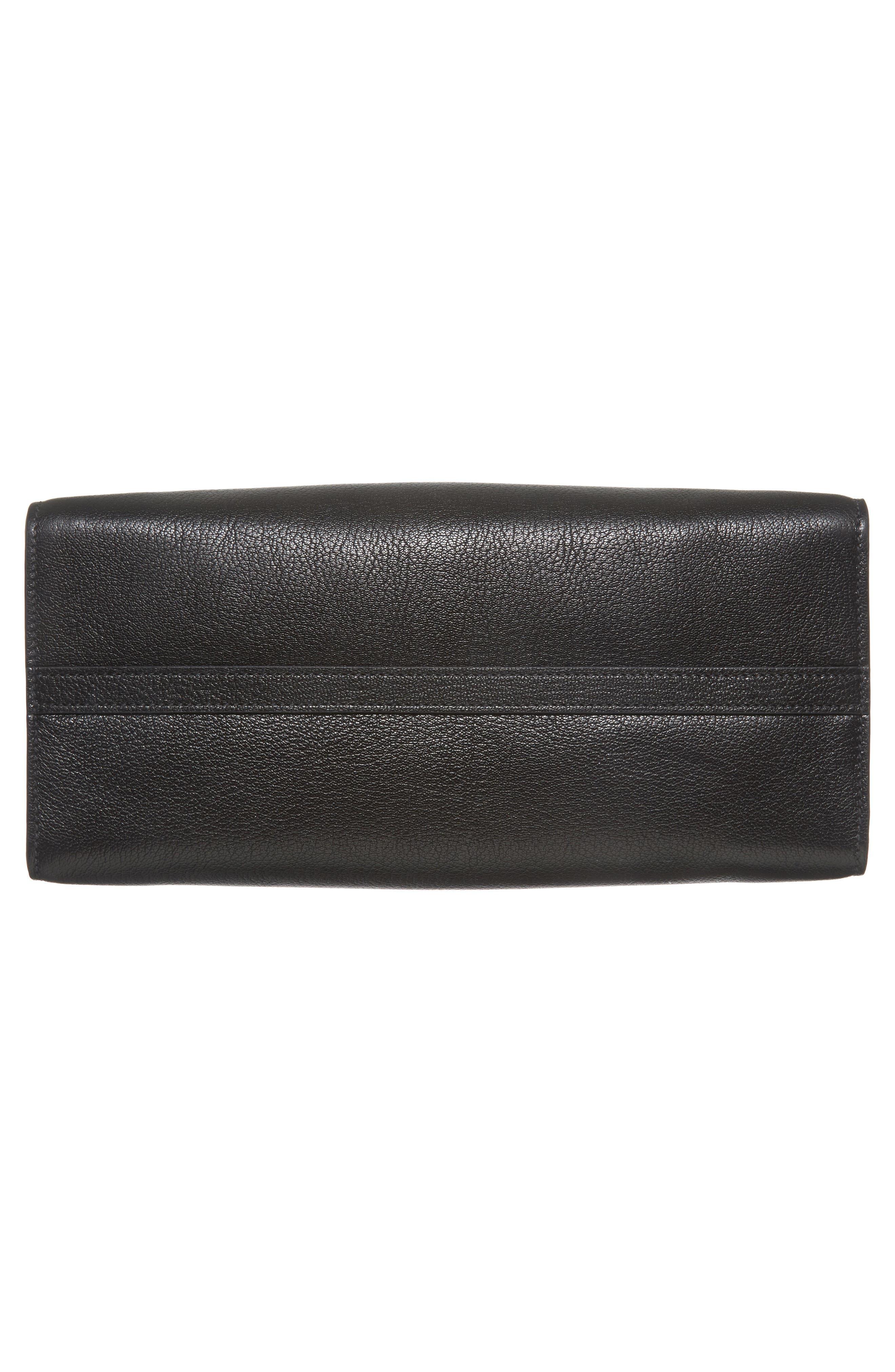 Leather Shopper,                             Alternate thumbnail 6, color,                             001