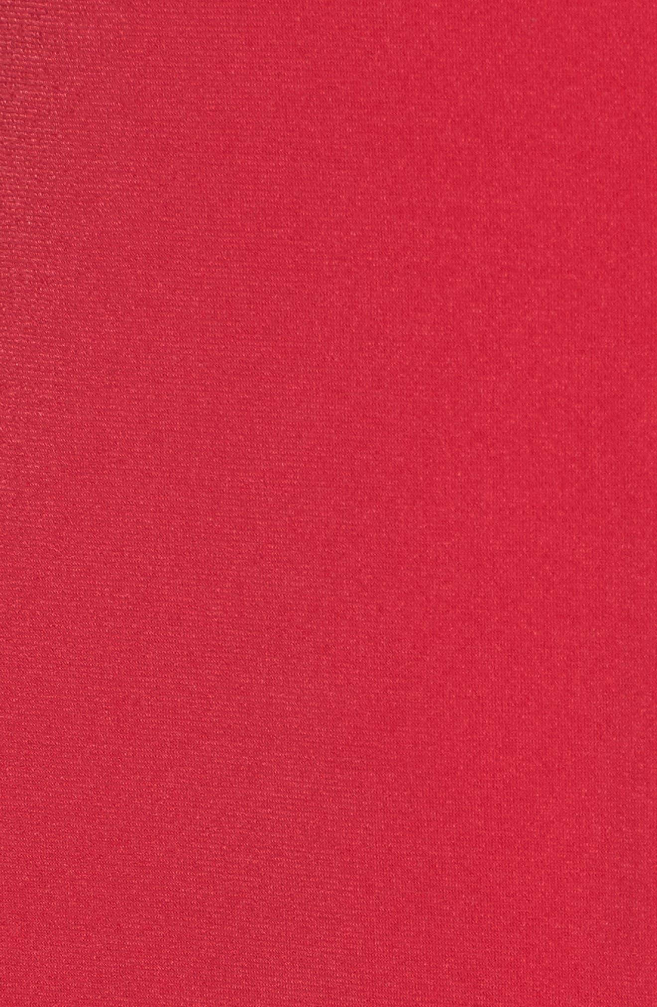 Flutter Sleeve Stretch Jersey Dress,                             Alternate thumbnail 5, color,