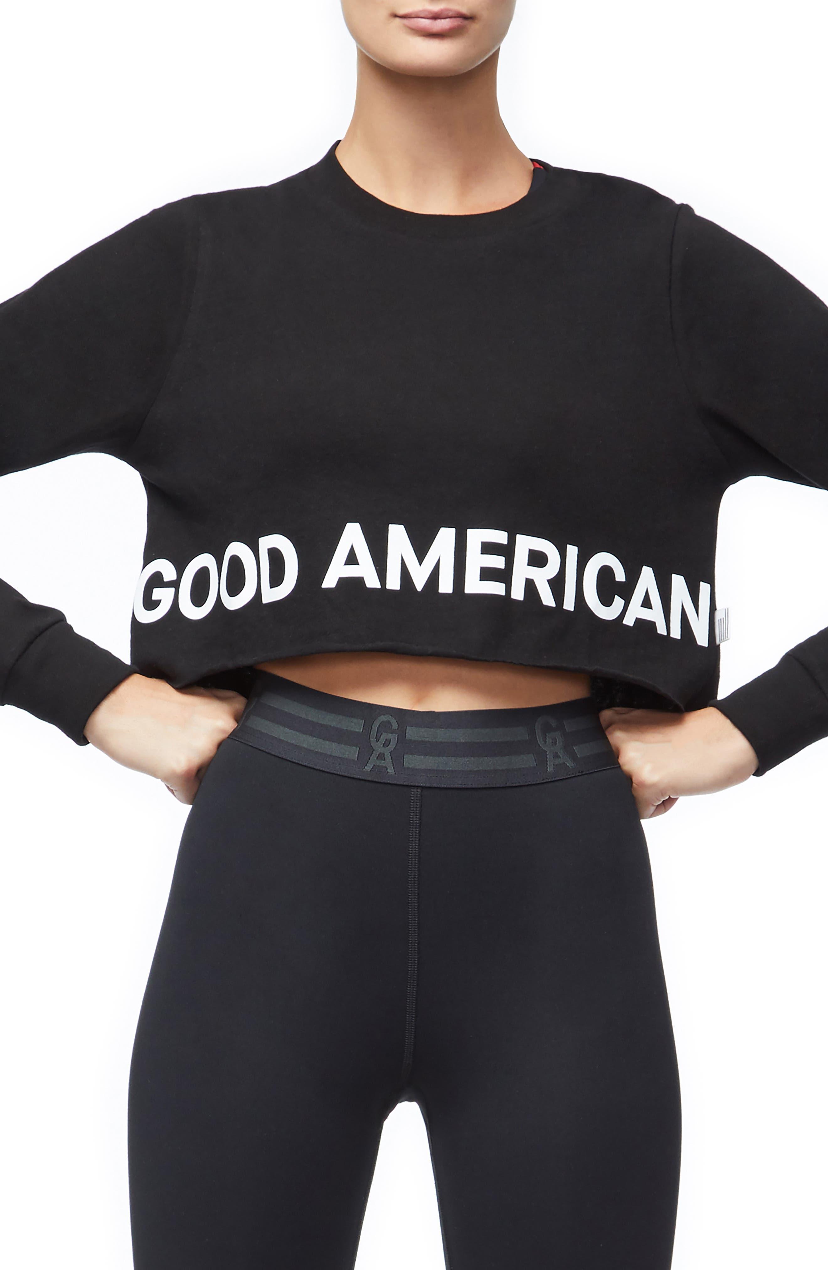 Plus Size Good American Crop Sweatshirt