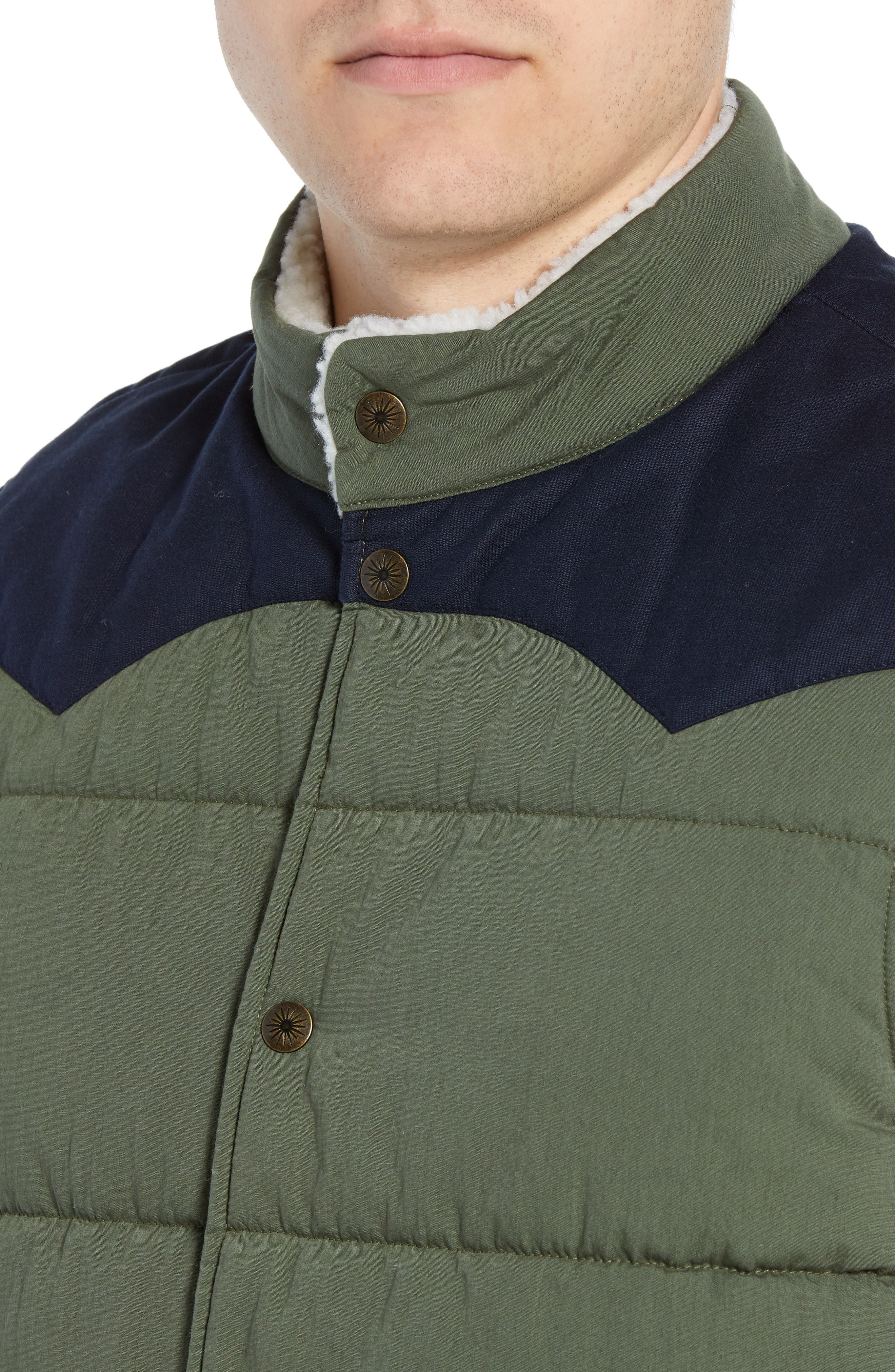 Quilted Western Vest,                             Alternate thumbnail 4, color,                             FOREST / NAVY