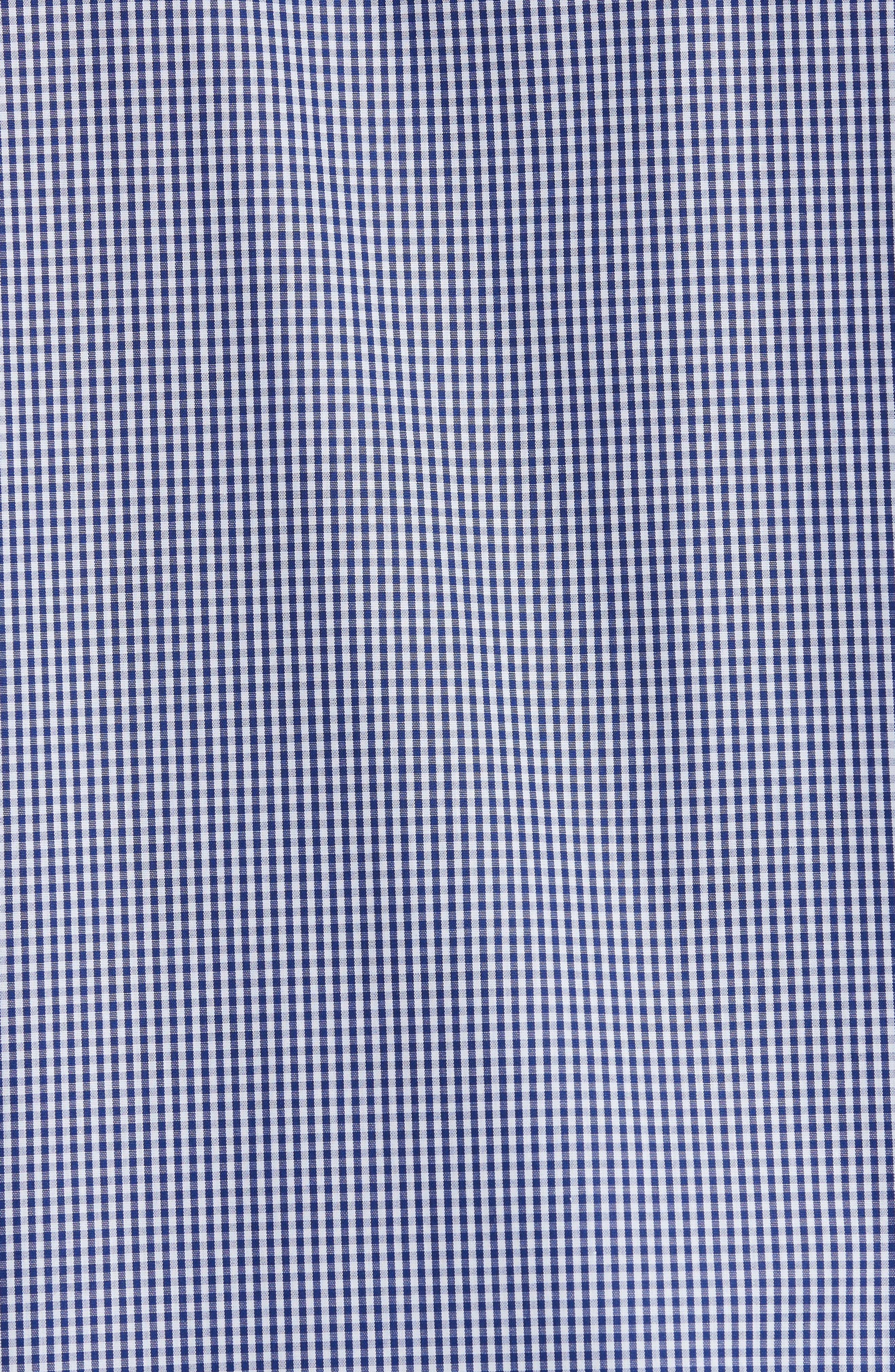 Gingham Woven Sport Shirt,                             Alternate thumbnail 5, color,                             BLUE