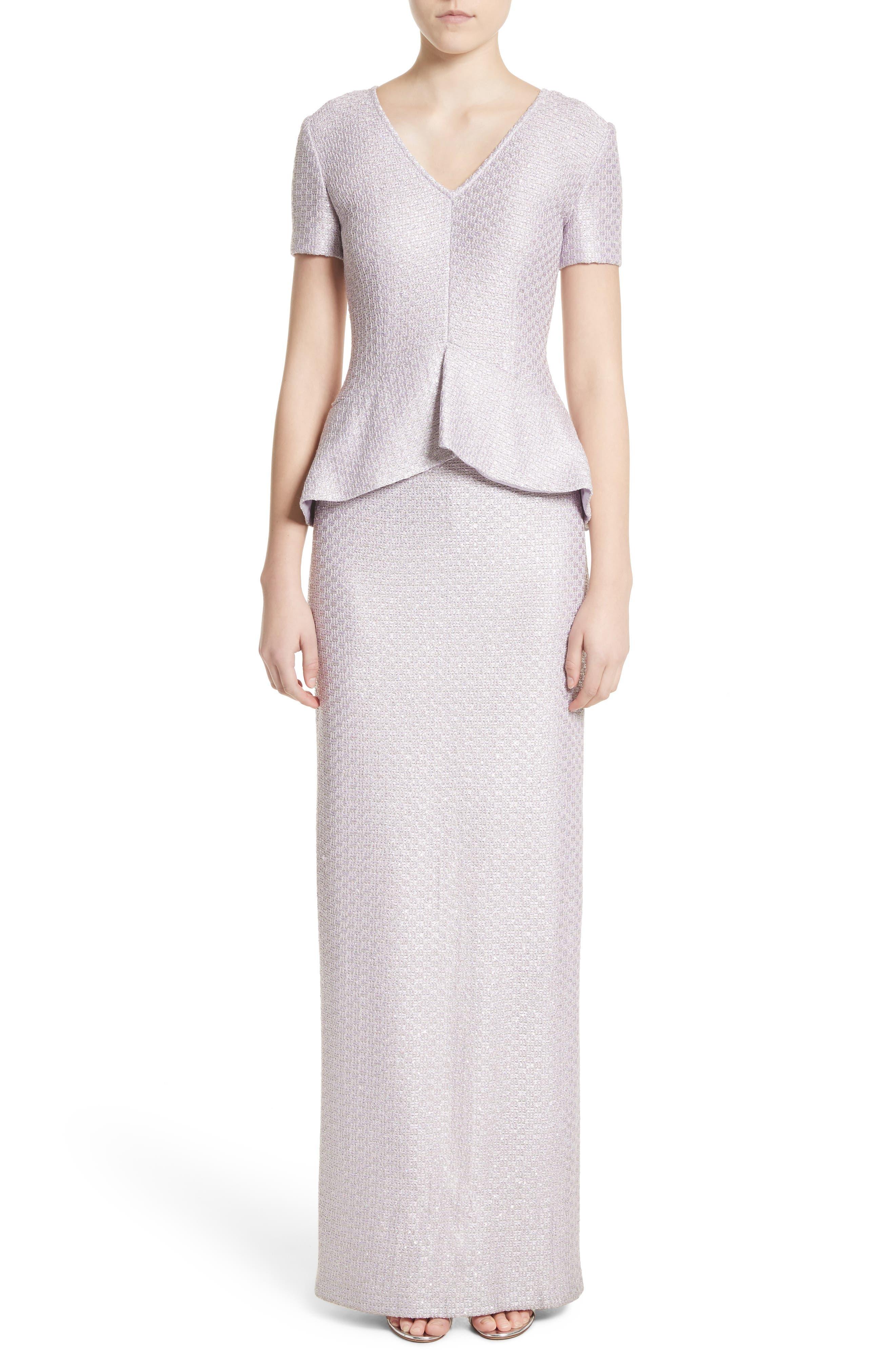 Hansh Sequin Knit Column Gown,                             Main thumbnail 1, color,