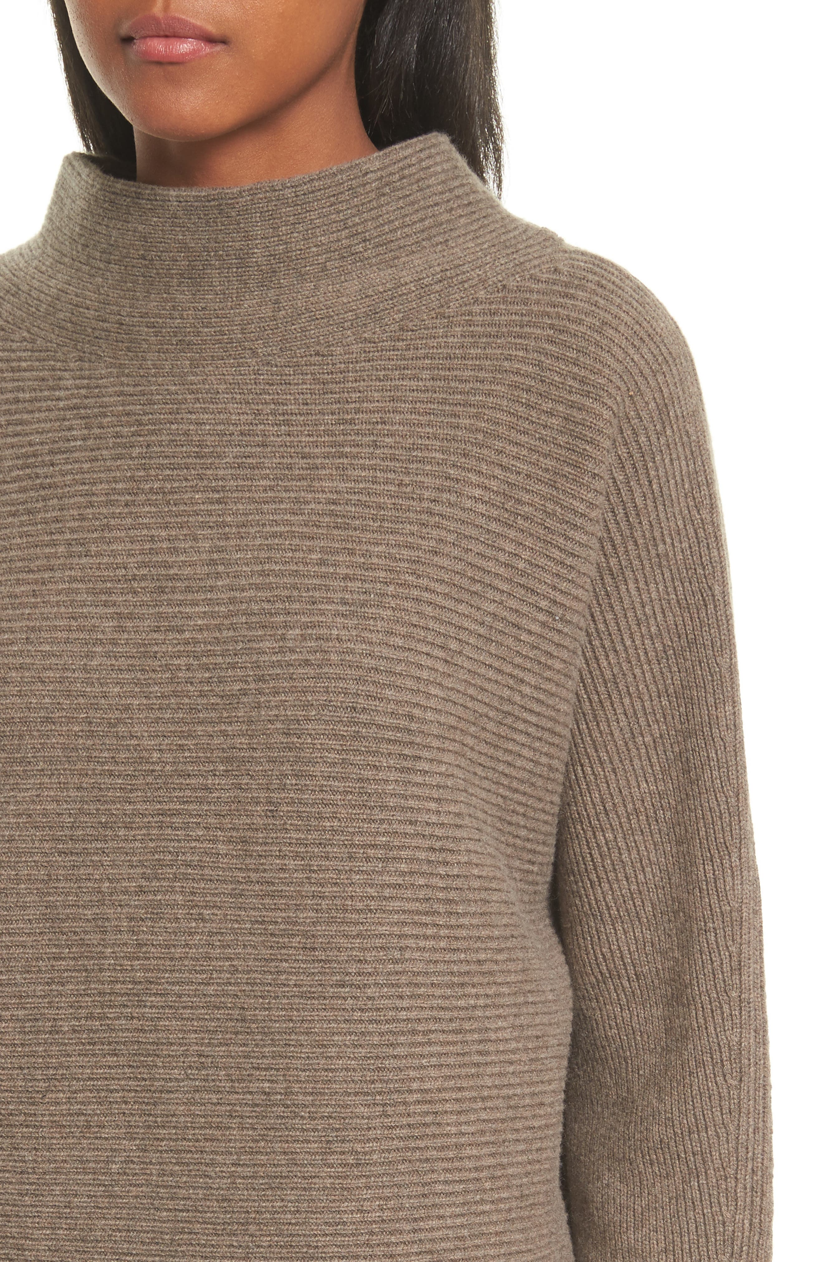 Ribbed Wool & Cashmere Sweater,                             Alternate thumbnail 4, color,                             285