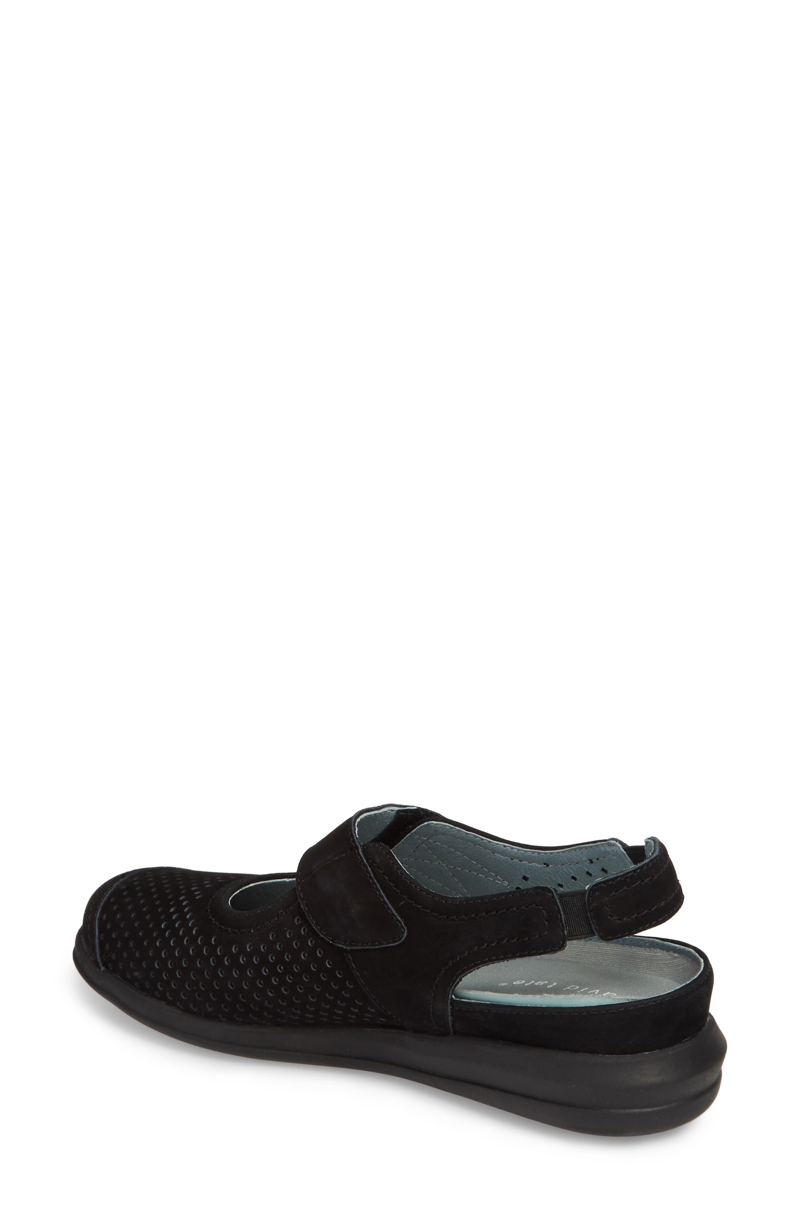 Clever Slingback Sneaker,                             Alternate thumbnail 2, color,                             BLACK NUBUCK