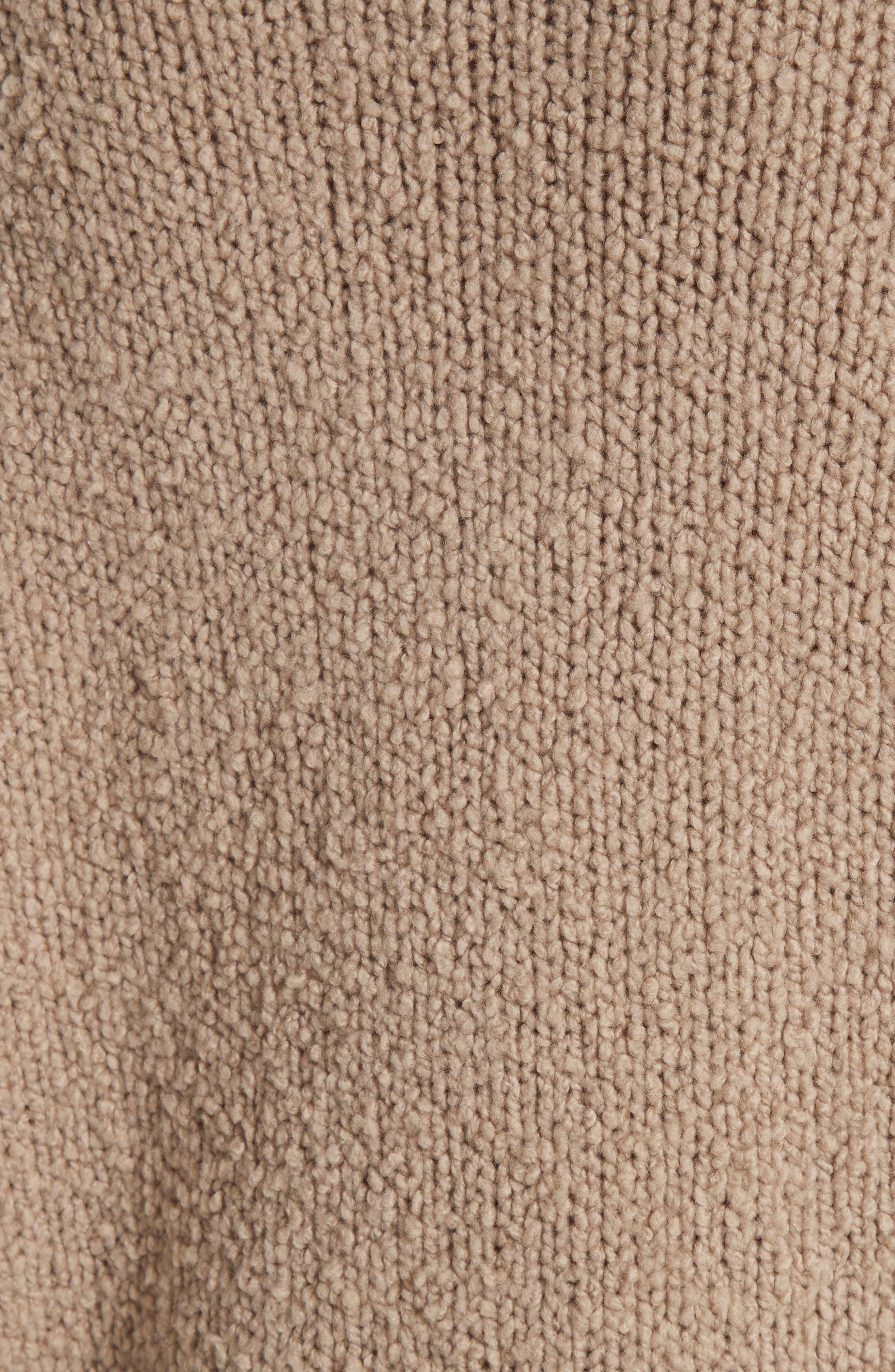 Saddle Sleeve Wool Sweater,                             Alternate thumbnail 5, color,