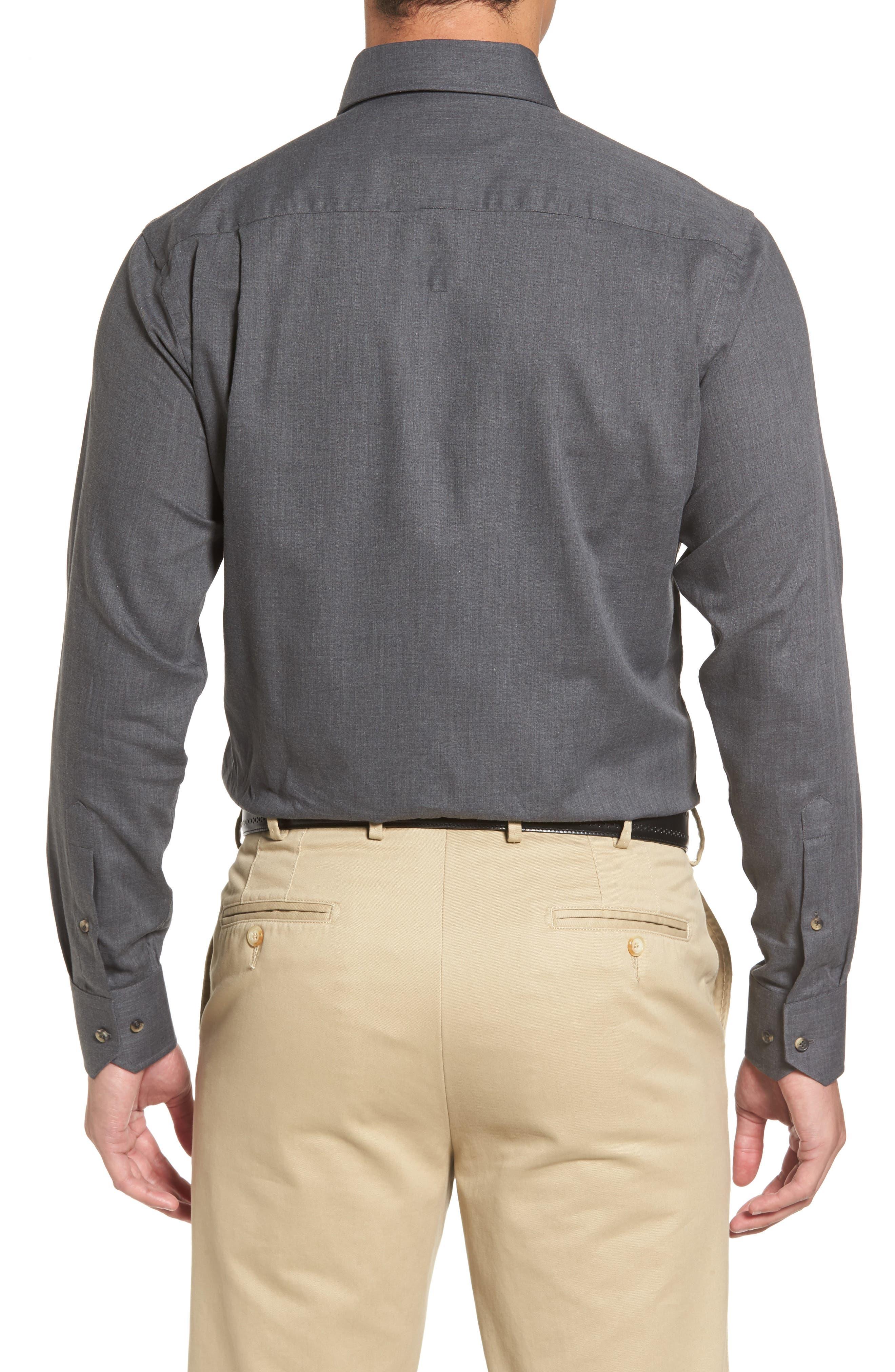 Peter Millar Regular Fit Mélange Herringbone Sport Shirt,                             Alternate thumbnail 2, color,                             039