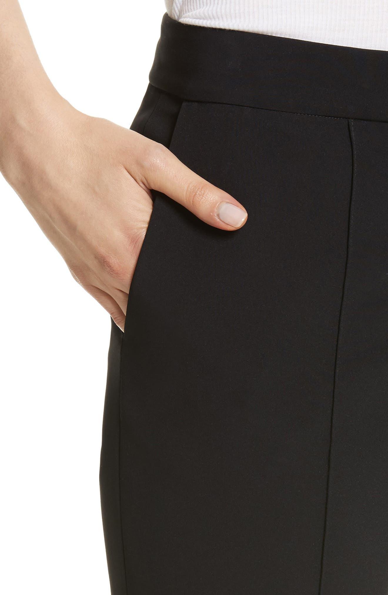 Fringe Detail Bi-Stretch Pants,                             Alternate thumbnail 4, color,