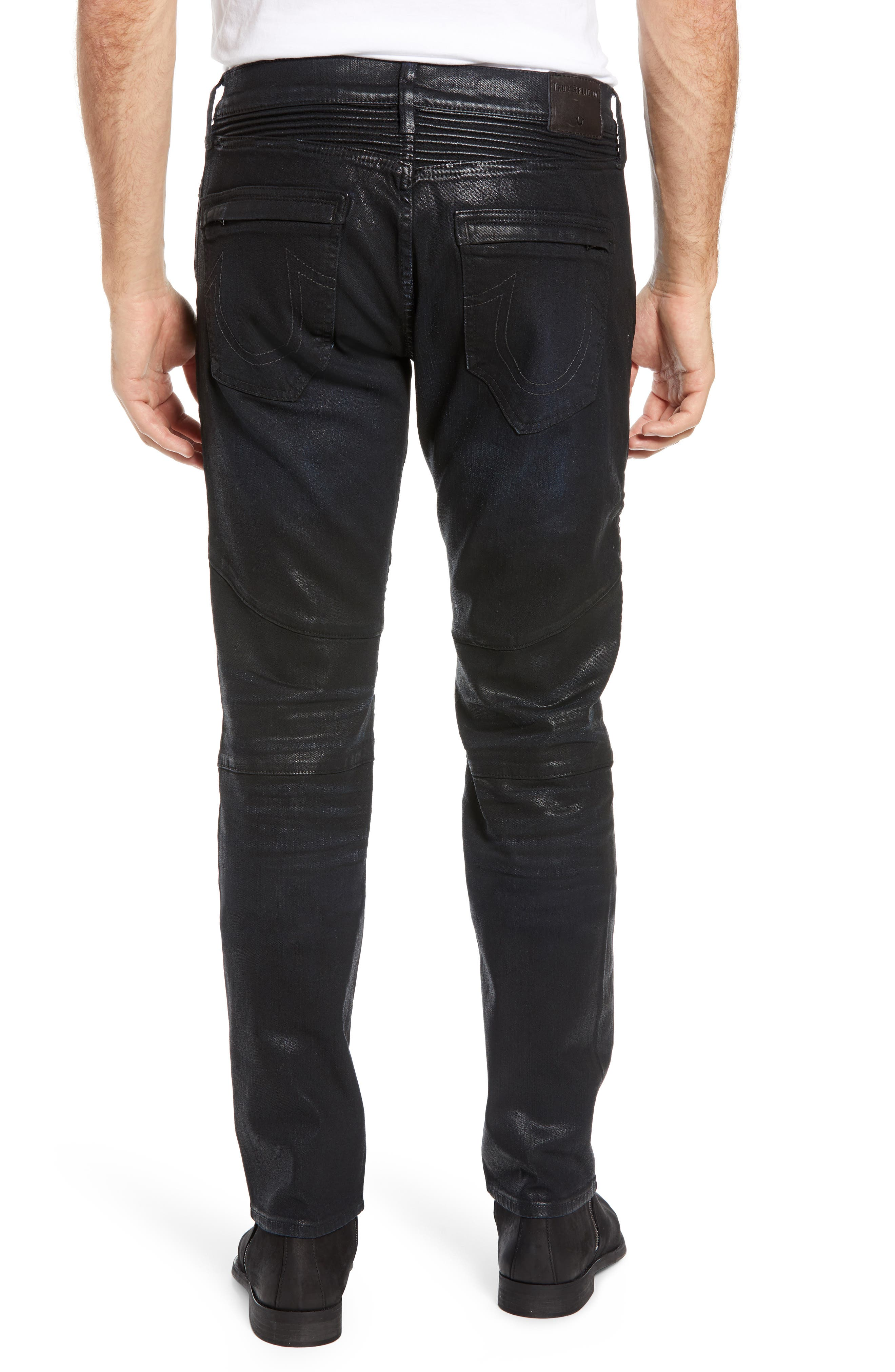 Rocco Skinny Fit Moto Jeans,                             Alternate thumbnail 2, color,                             FLGD BOOST BLUE