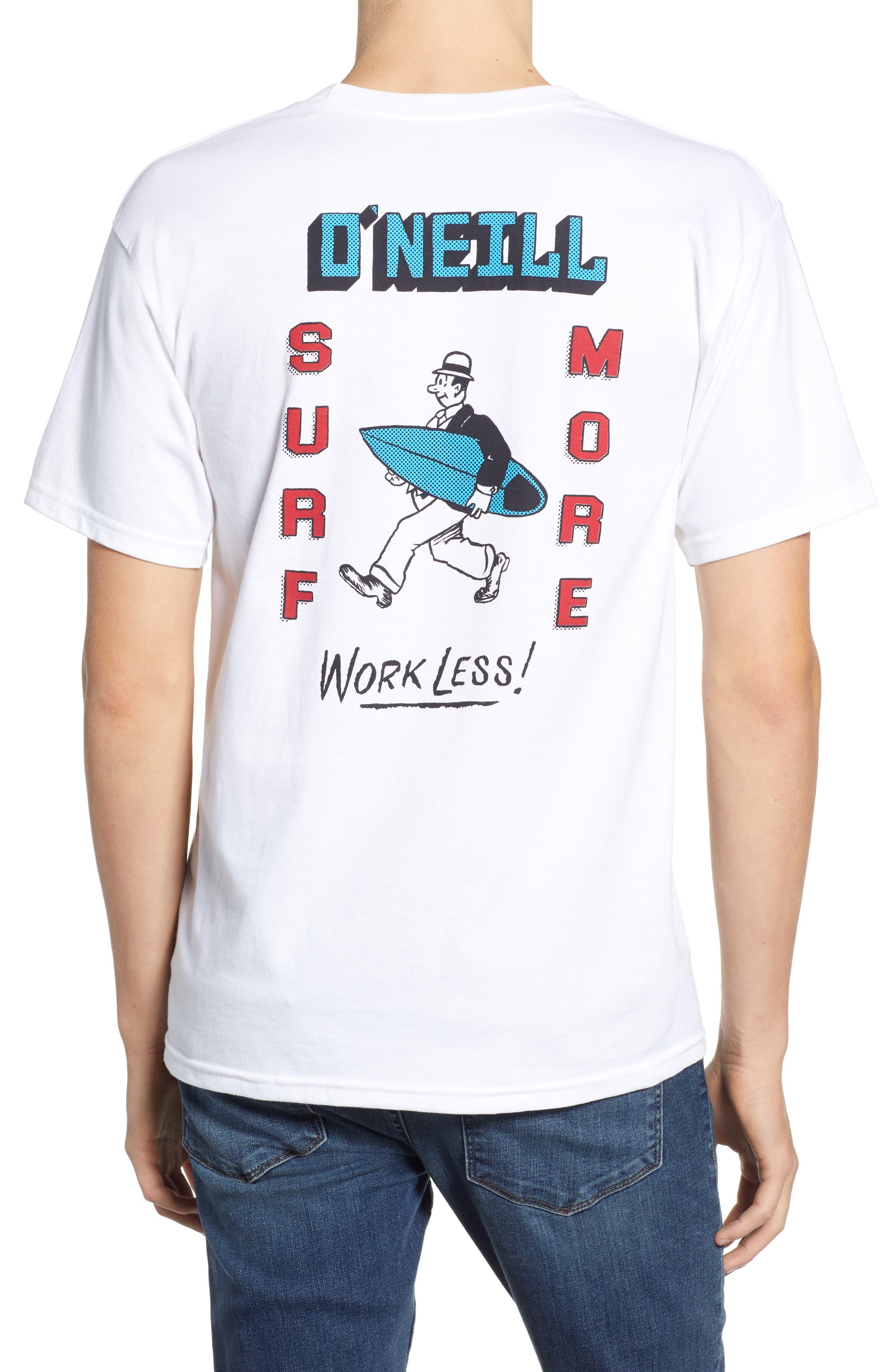 Work Less Graphic T-Shirt,                             Alternate thumbnail 2, color,                             100