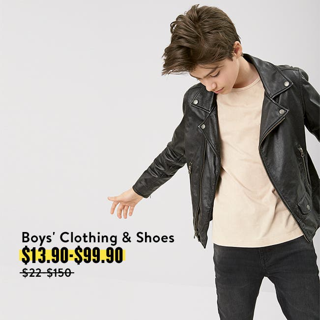 Get big deals on back to school with boys' clothing and shoes.