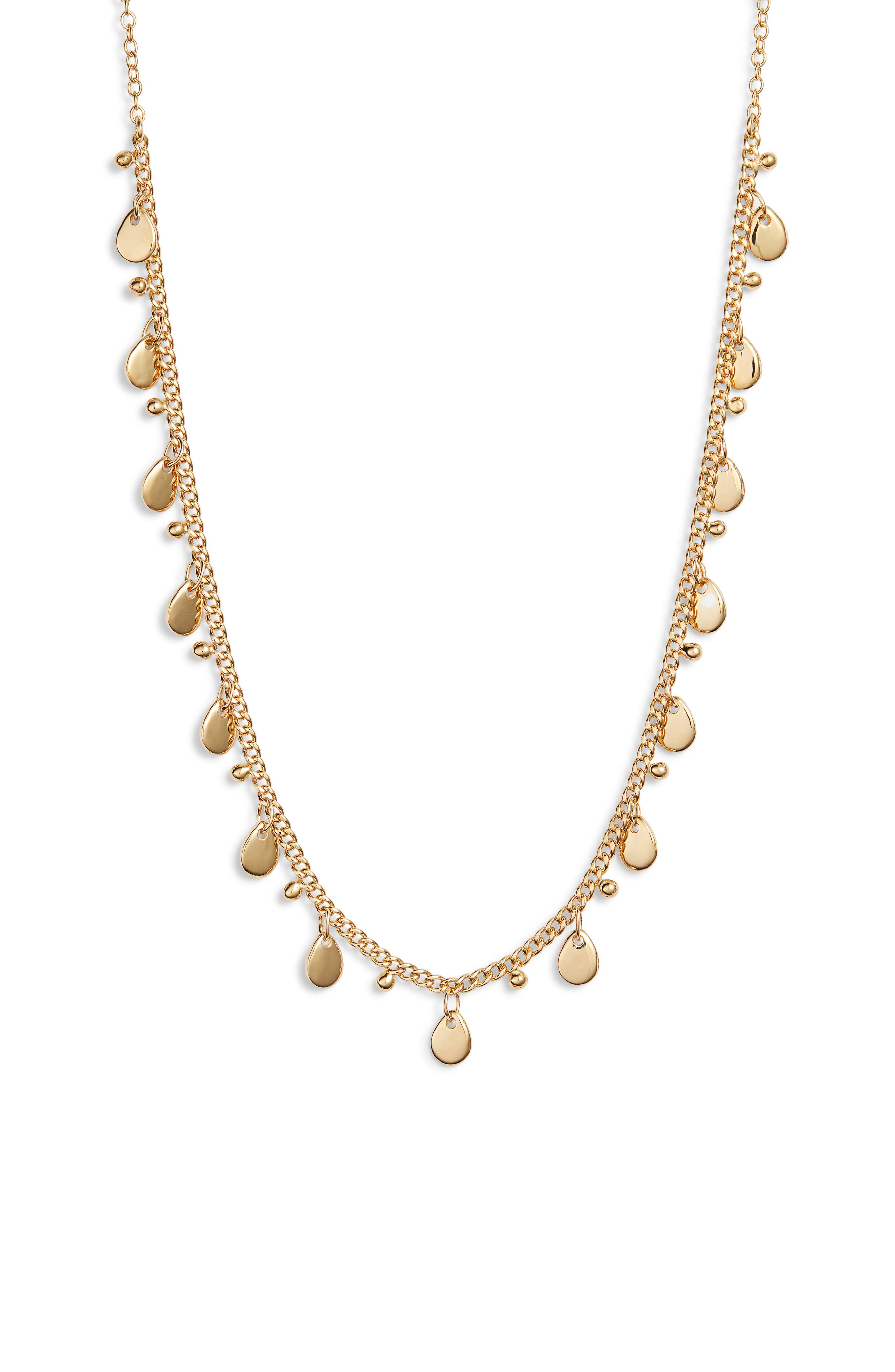 ANNA BECK Petite Charm Necklace in Gold