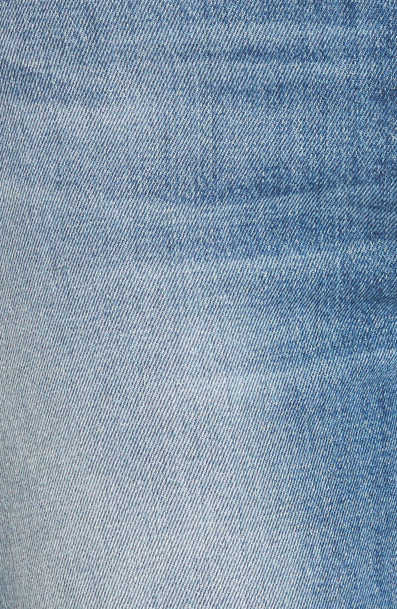 Zoeey High Waist Crop Straight Leg Jeans,                             Alternate thumbnail 16, color,