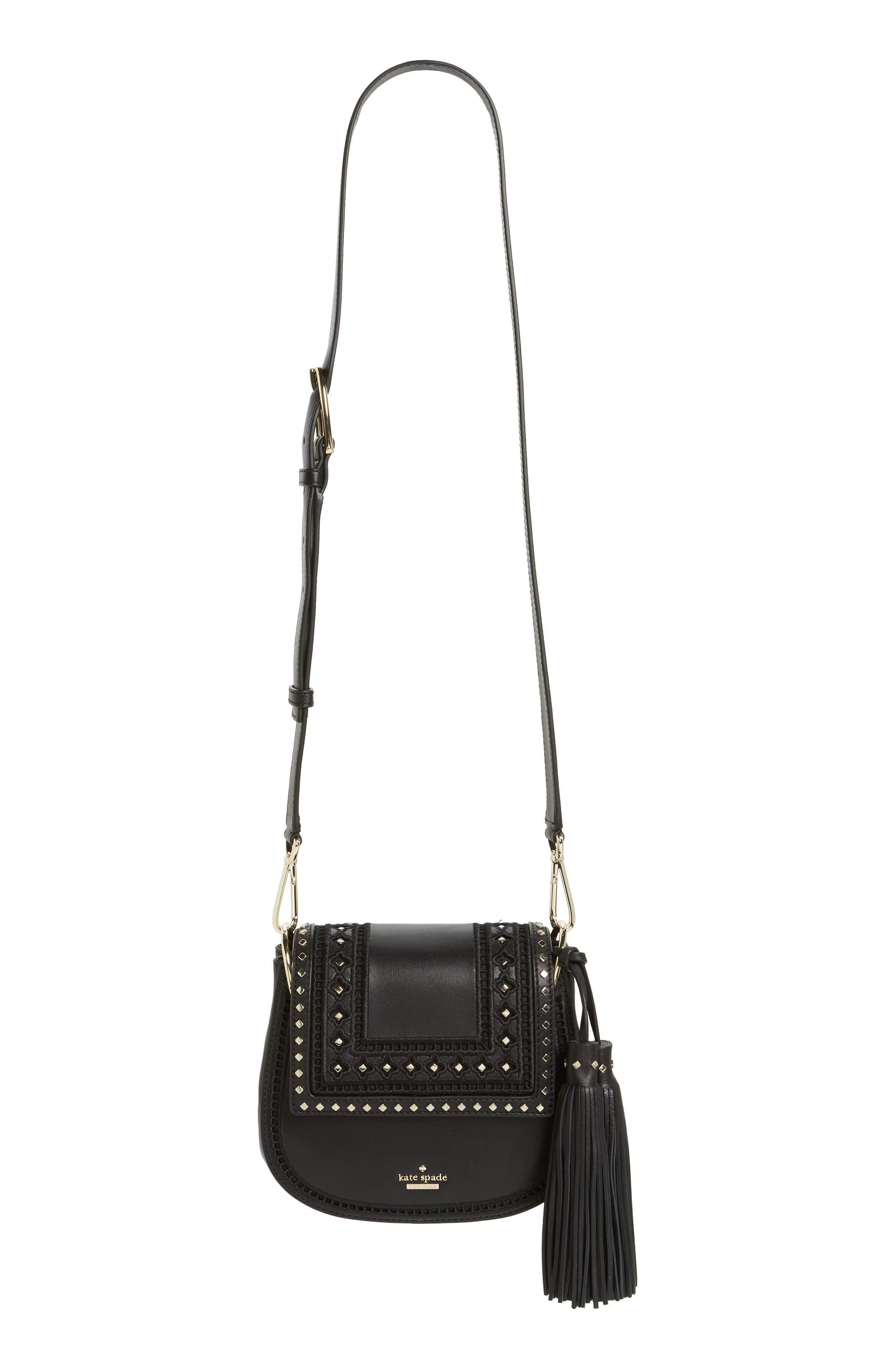 basset lane - small emaline leather crossbody bag,                             Main thumbnail 1, color,                             001