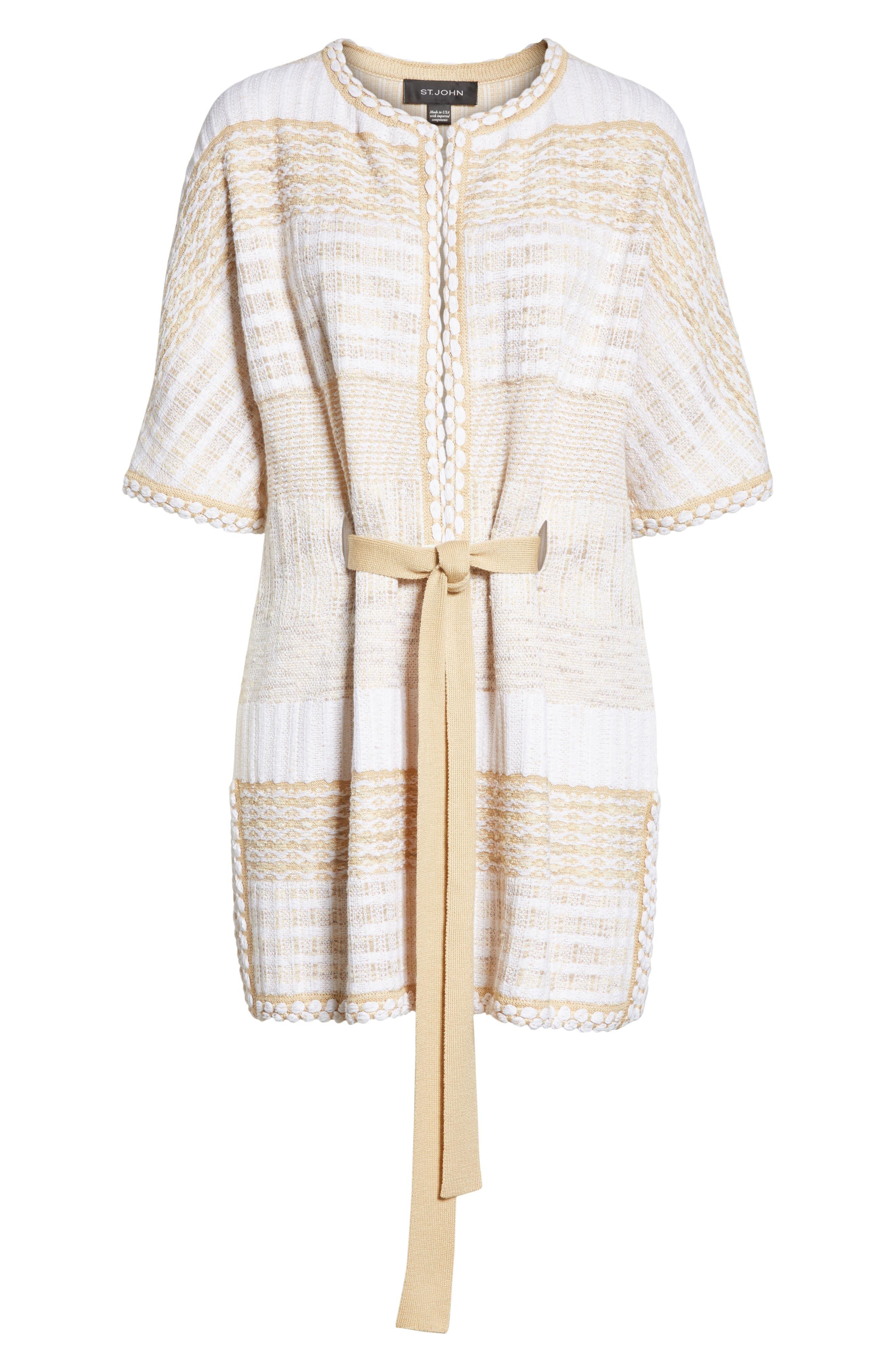 ST. JOHN COLLECTION,                             Mixed Floats Stripe Knit Jacket,                             Alternate thumbnail 5, color,                             700