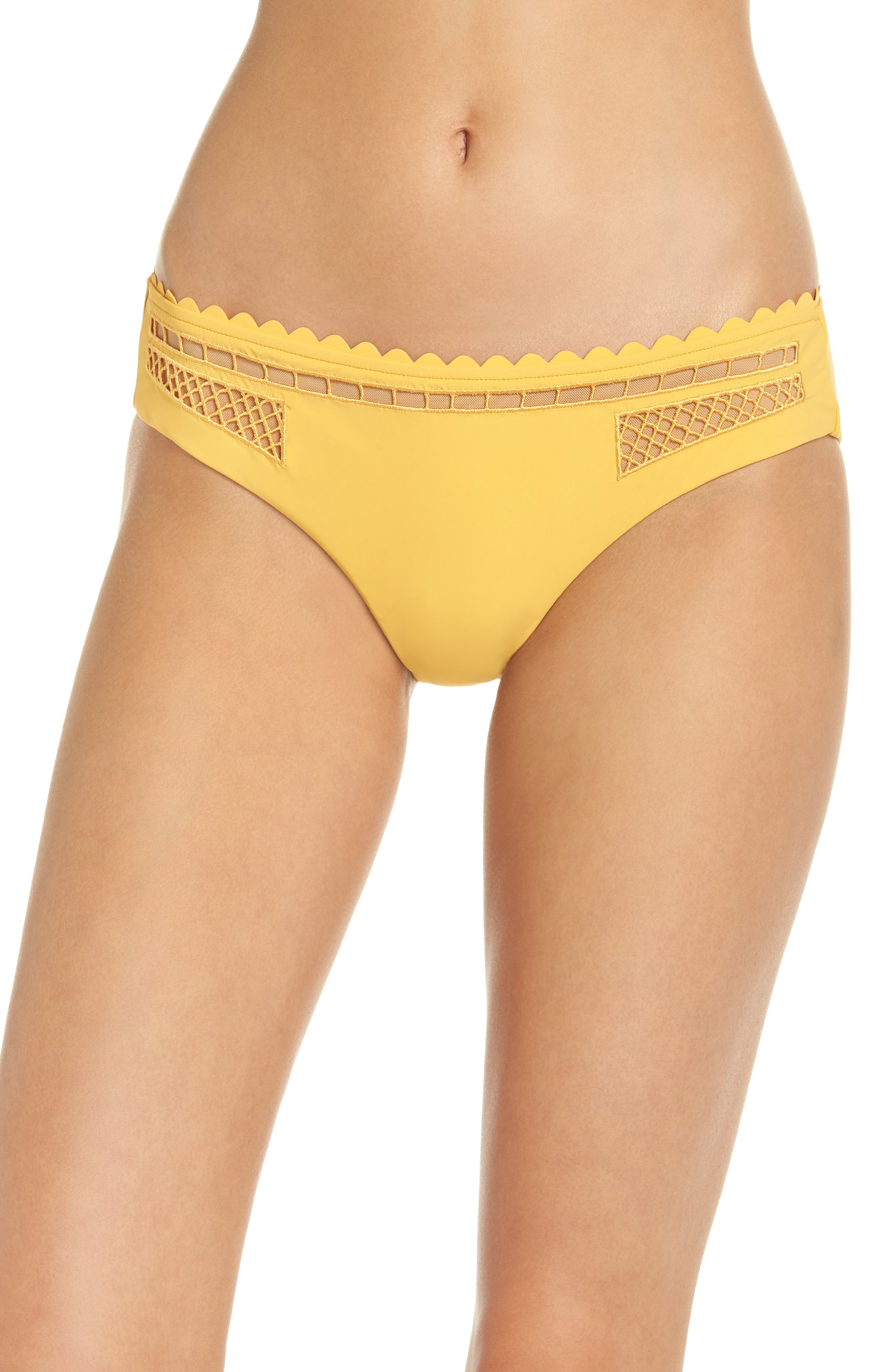 RED CARTER Embroidered Bikini Bottoms in Star