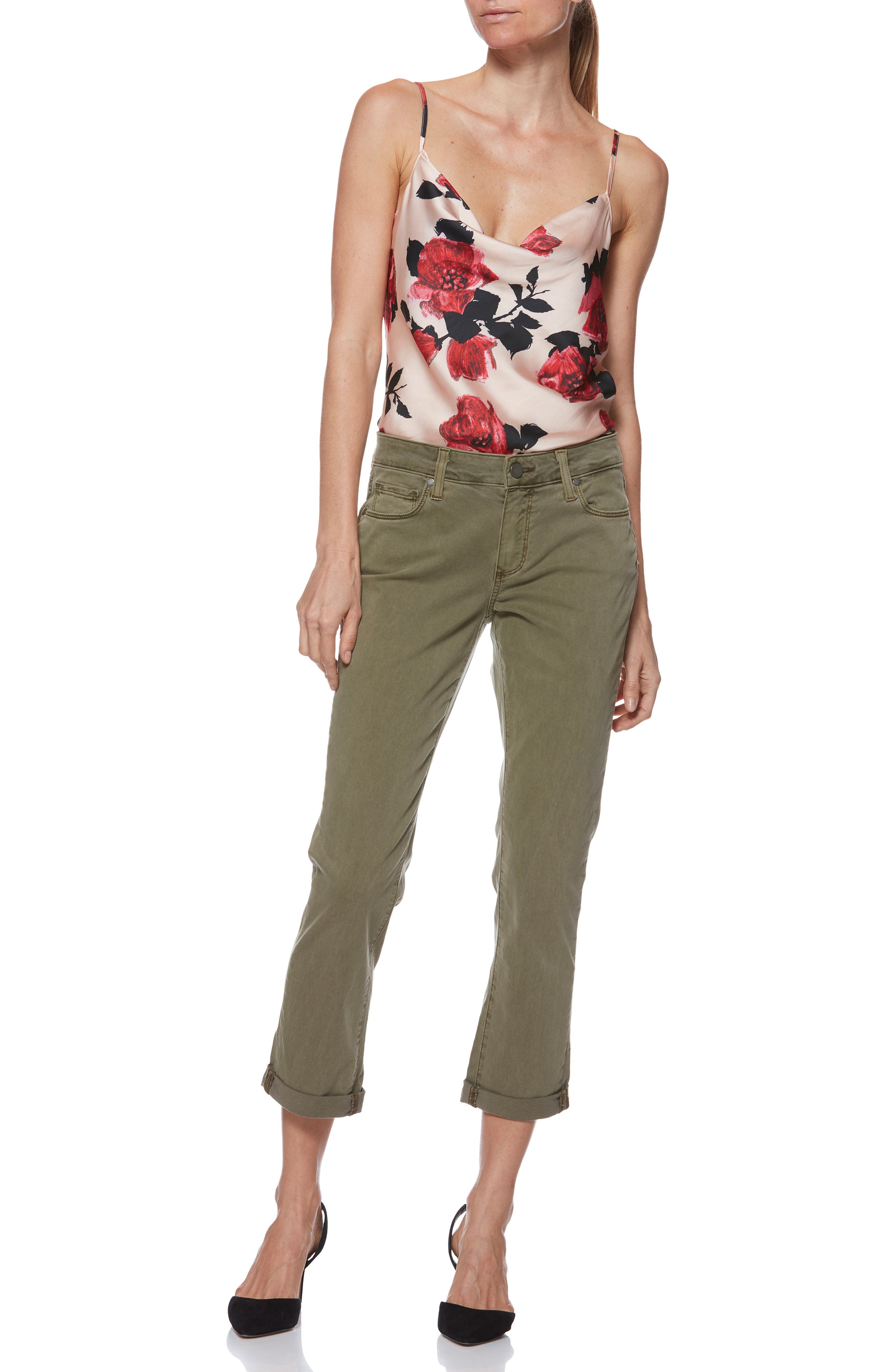 Brigitte Crop Boyfriend Jeans,                             Alternate thumbnail 8, color,                             SAHARA GREEN