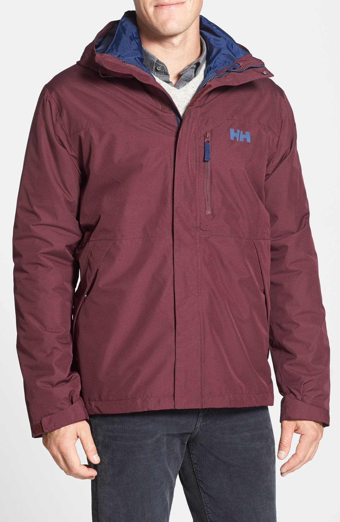 Squamish 3-in-1 Water Repellent Hooded Jacket,                             Main thumbnail 6, color,