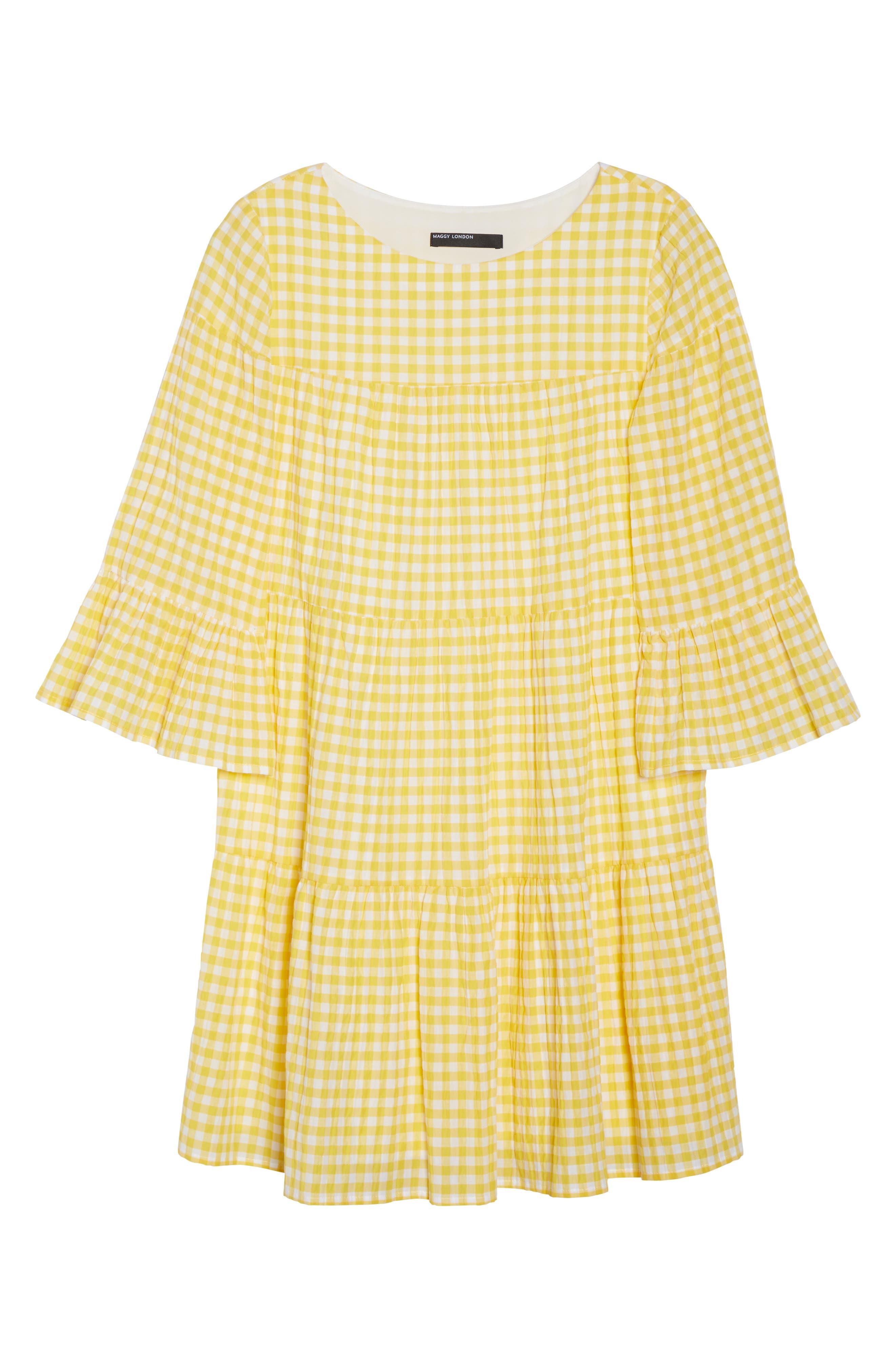 Gingham Swing Dress,                             Alternate thumbnail 6, color,                             740