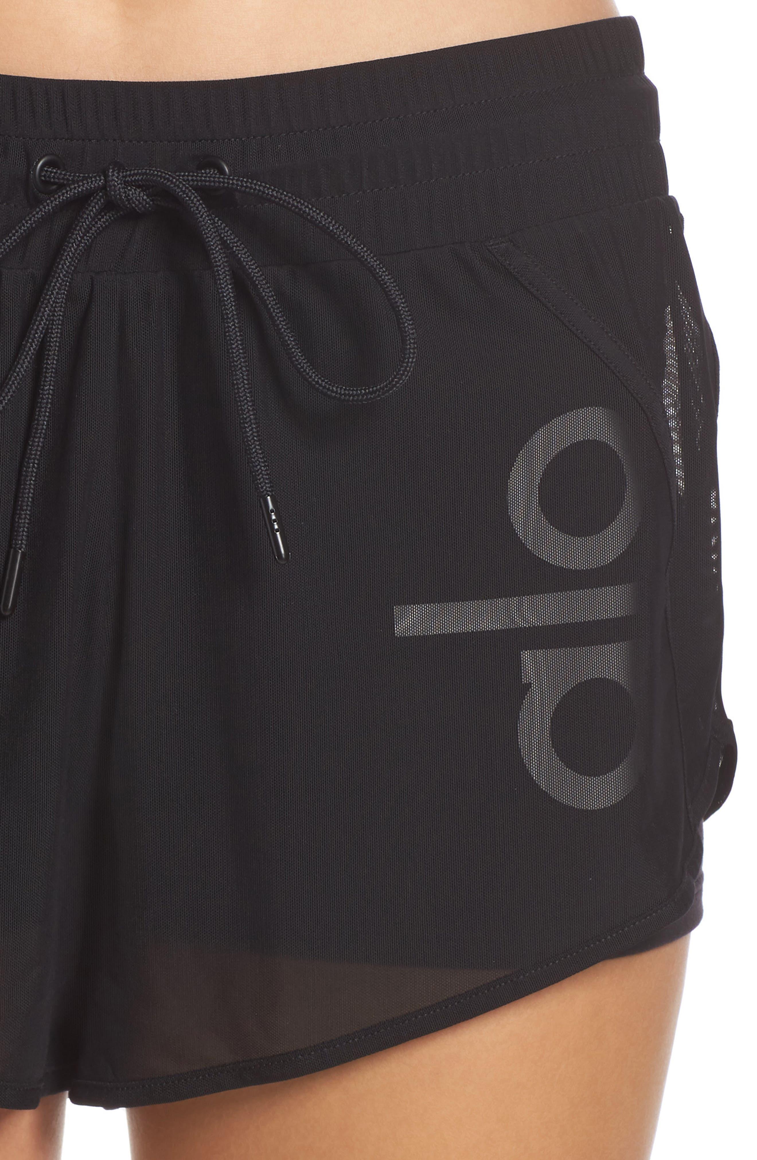 Ambience Shorts,                             Alternate thumbnail 4, color,                             BLACK/ BLACK/ ALO/ WHITE