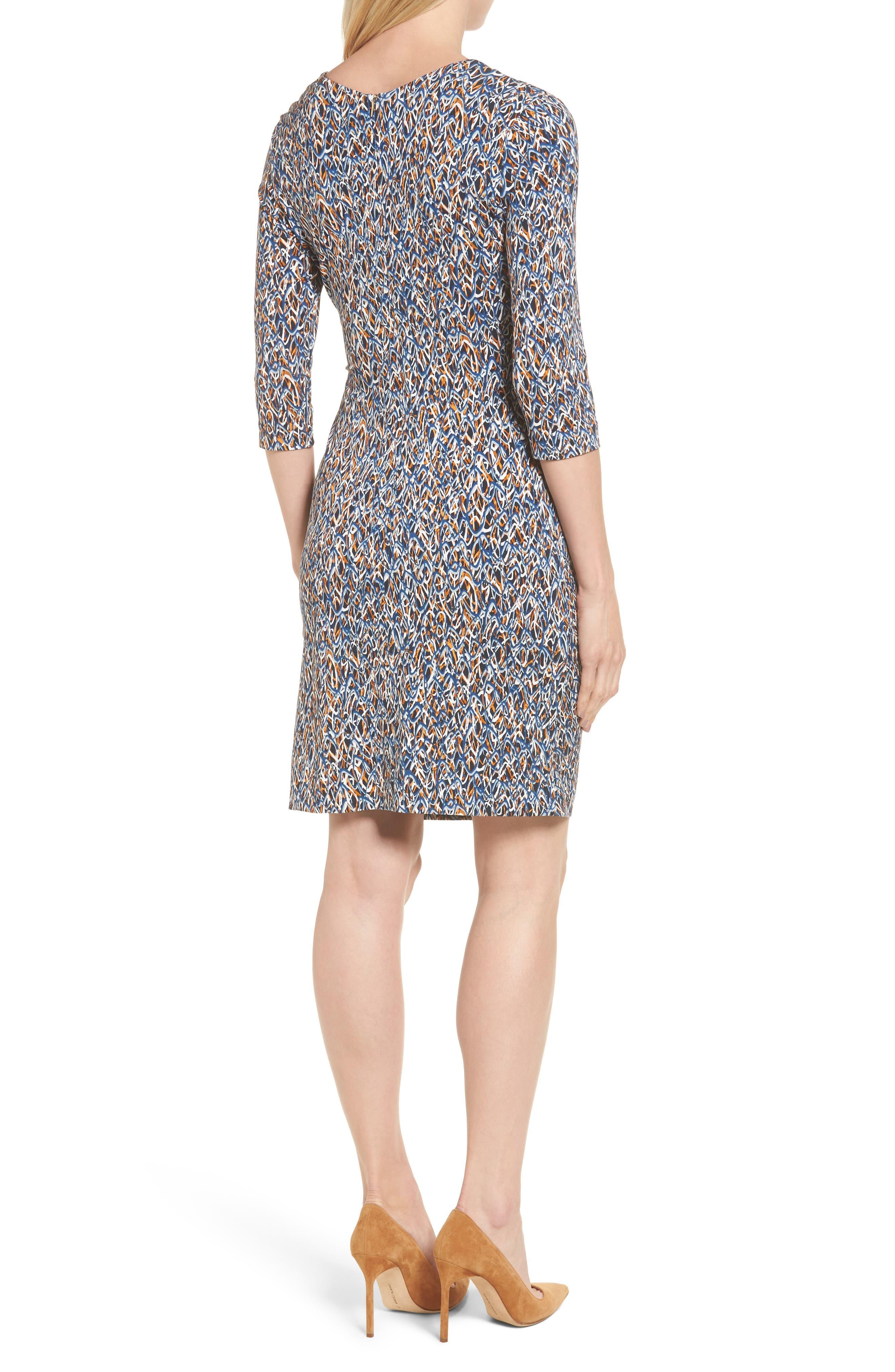 Epona Print Sheath Dress,                             Alternate thumbnail 2, color,                             461