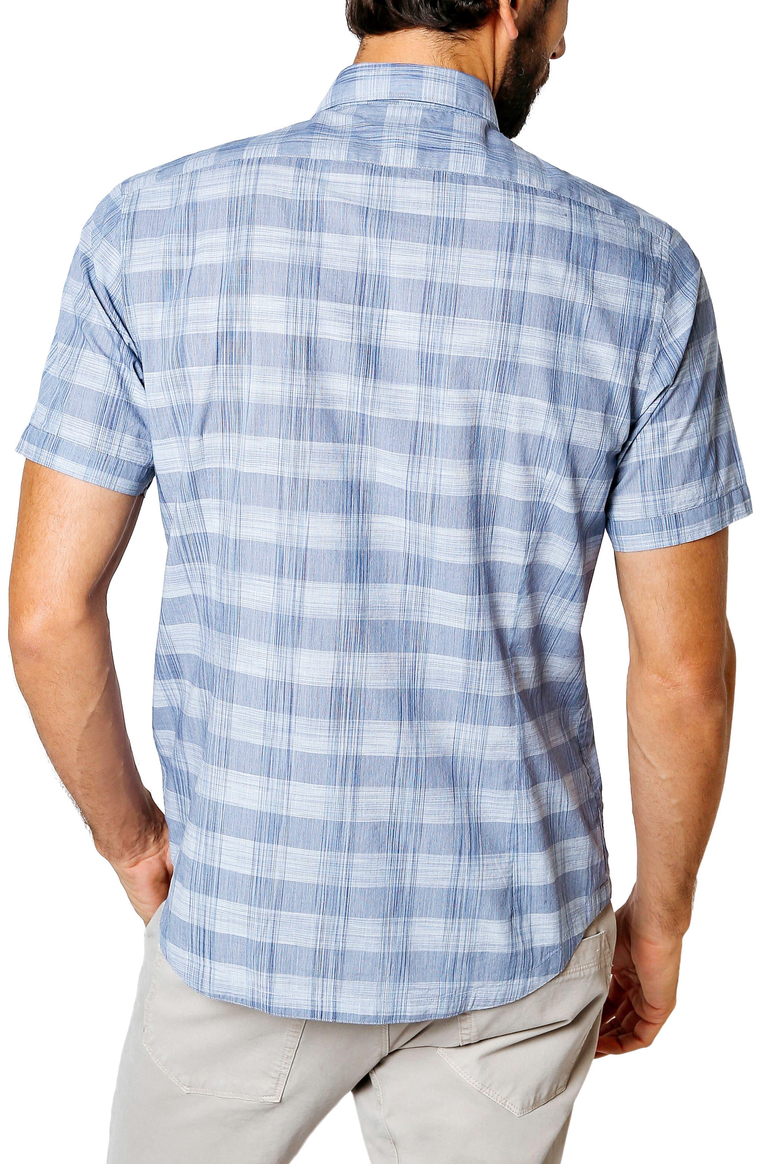 Palisade Space Trim Fit Check Sport Shirt,                             Alternate thumbnail 2, color,                             410