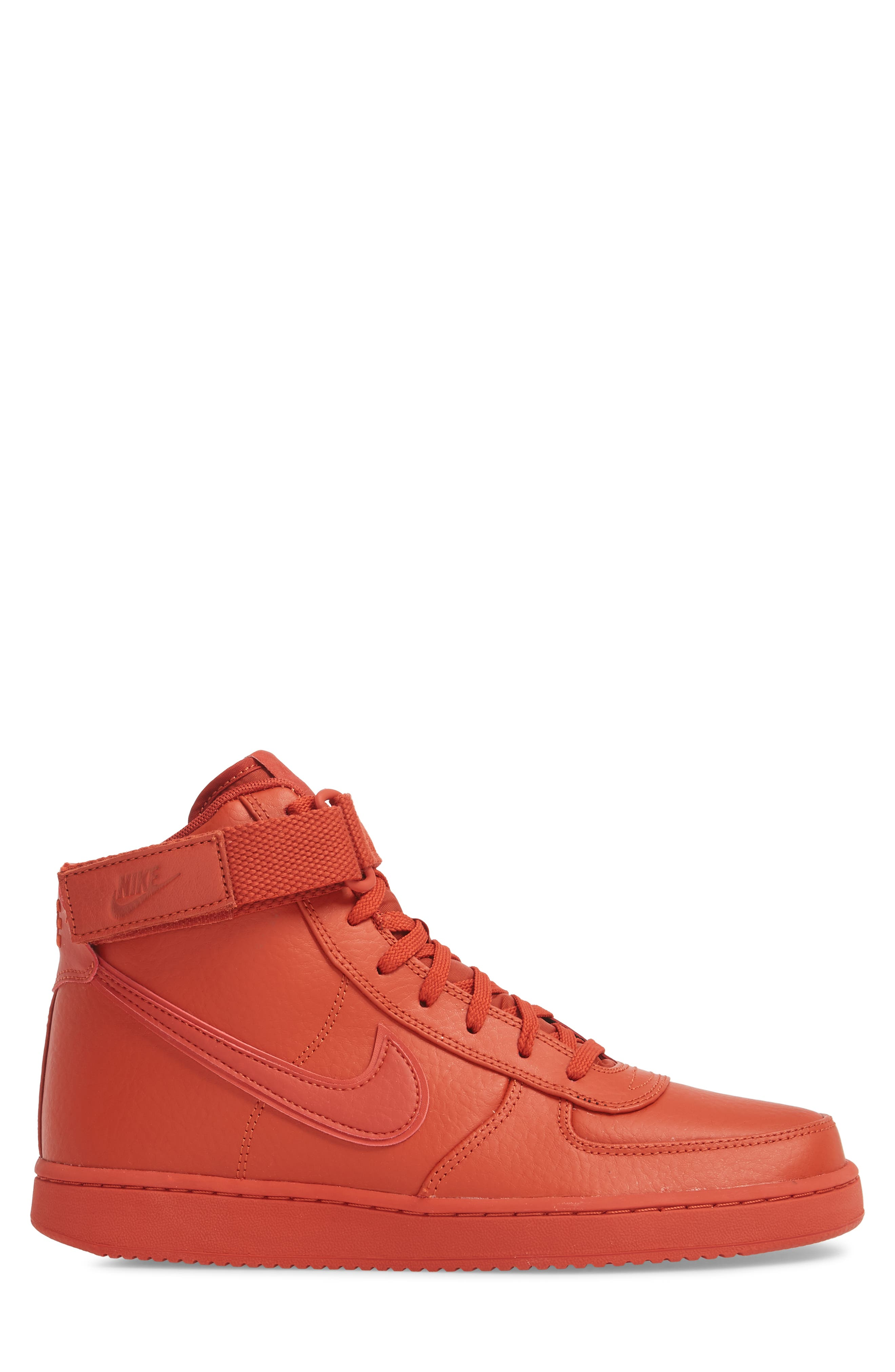 Vandal High Supreme Leather Sneaker,                             Alternate thumbnail 3, color,                             DRAGON RED
