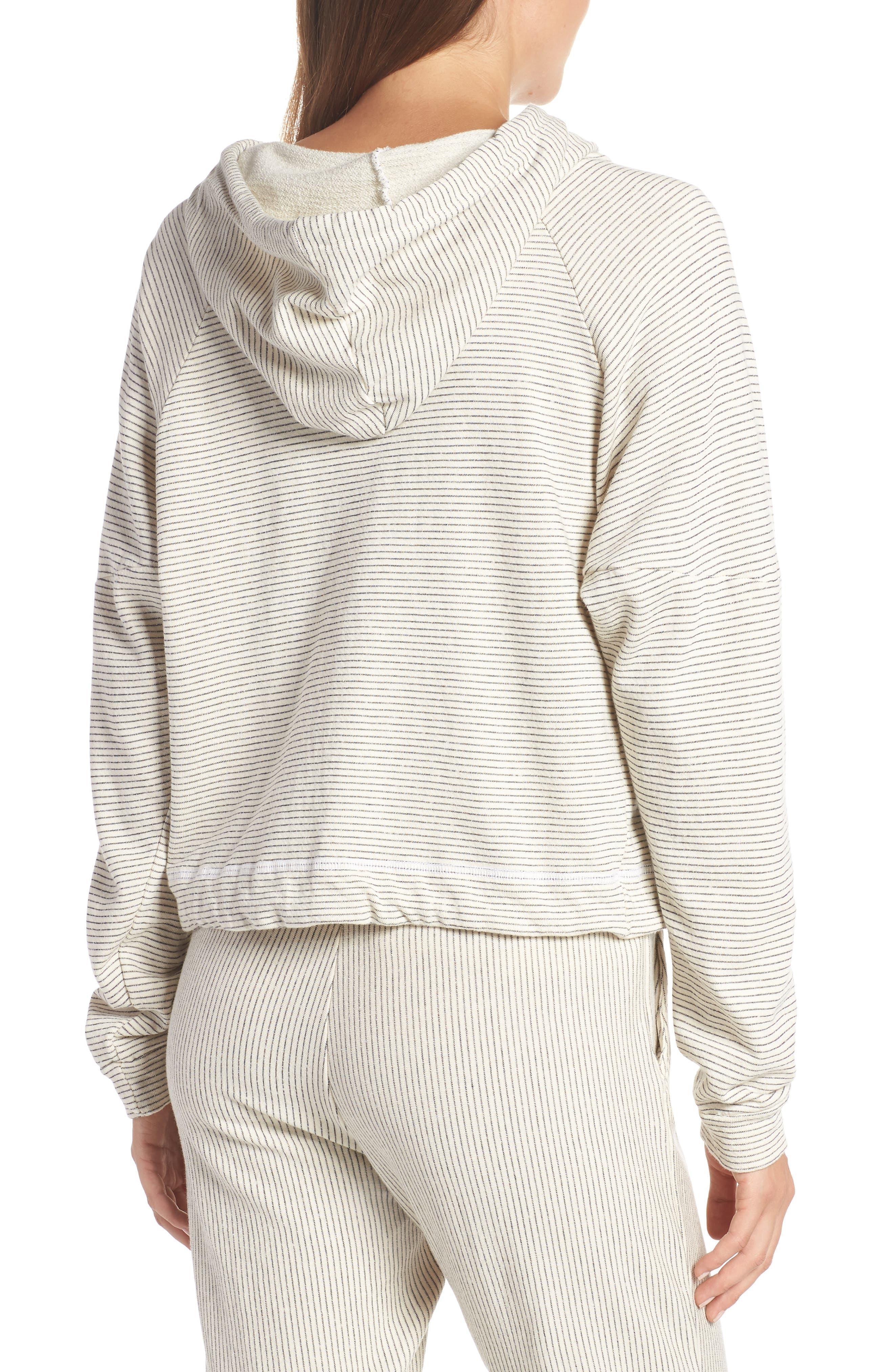 Apparel Atwater Stripe Hoodie,                             Alternate thumbnail 2, color,                             NATURAL