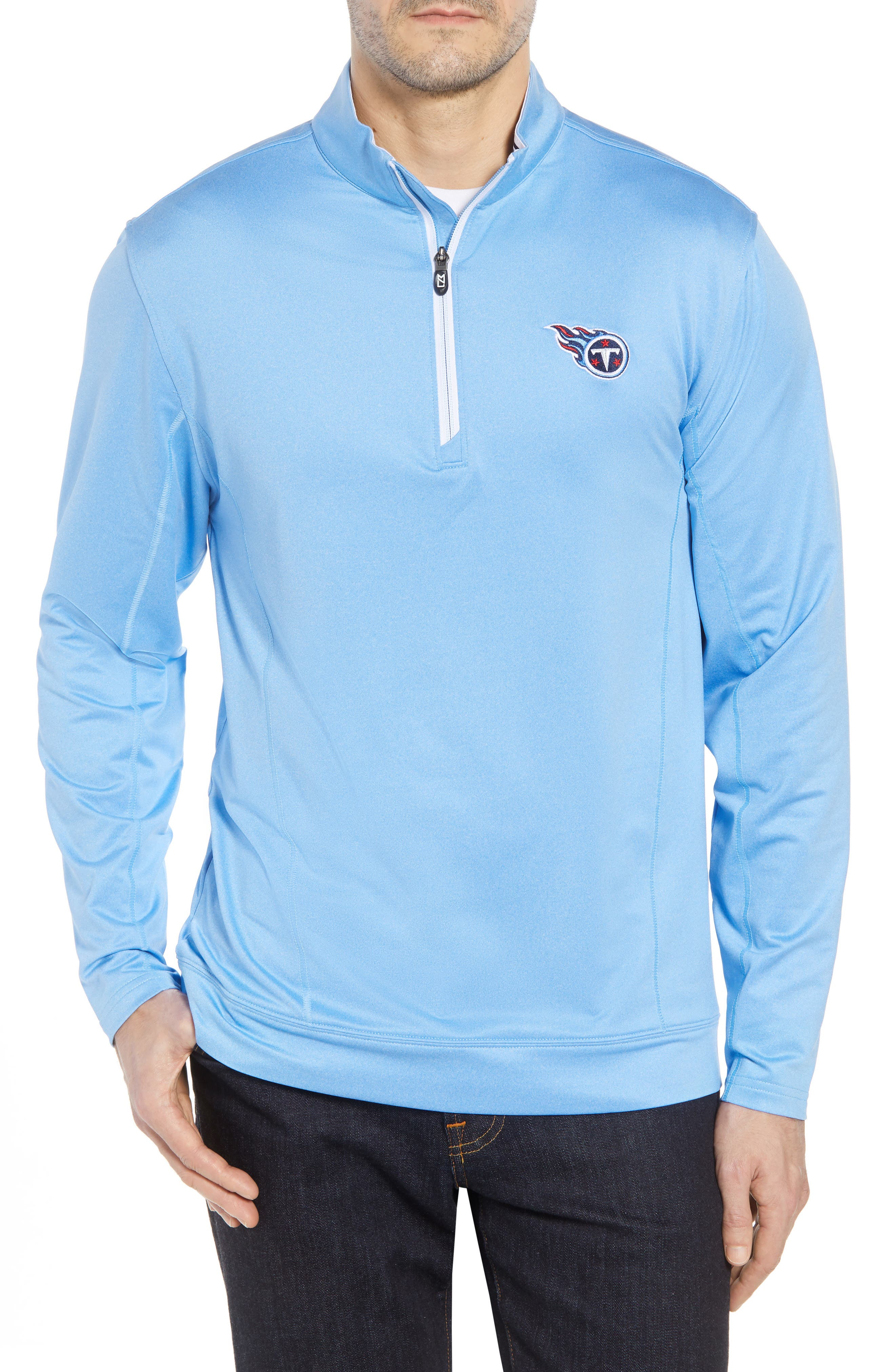 Endurance Tennessee Titans Regular Fit Pullover,                             Main thumbnail 1, color,                             ATLAS HEATHER