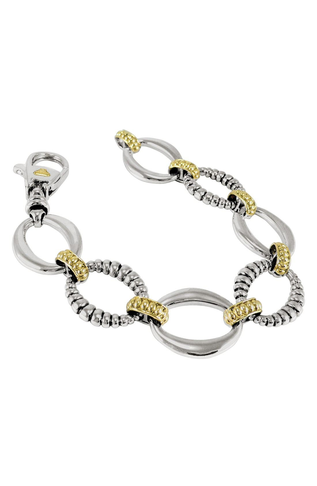 'Link' 2-Tone Bracelet,                         Main,                         color, 960