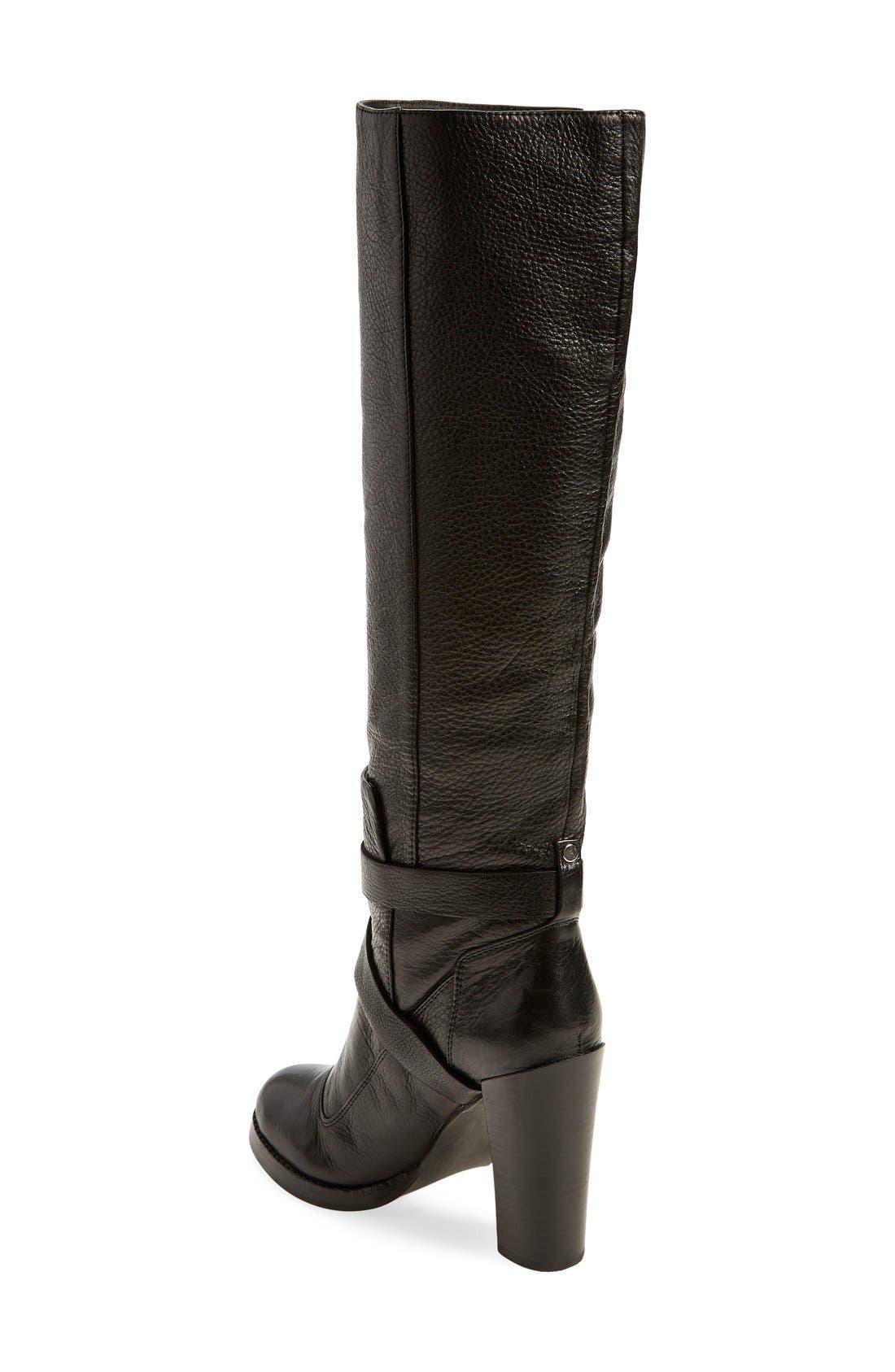 'Billie' Knee-High Boot,                             Alternate thumbnail 4, color,                             001