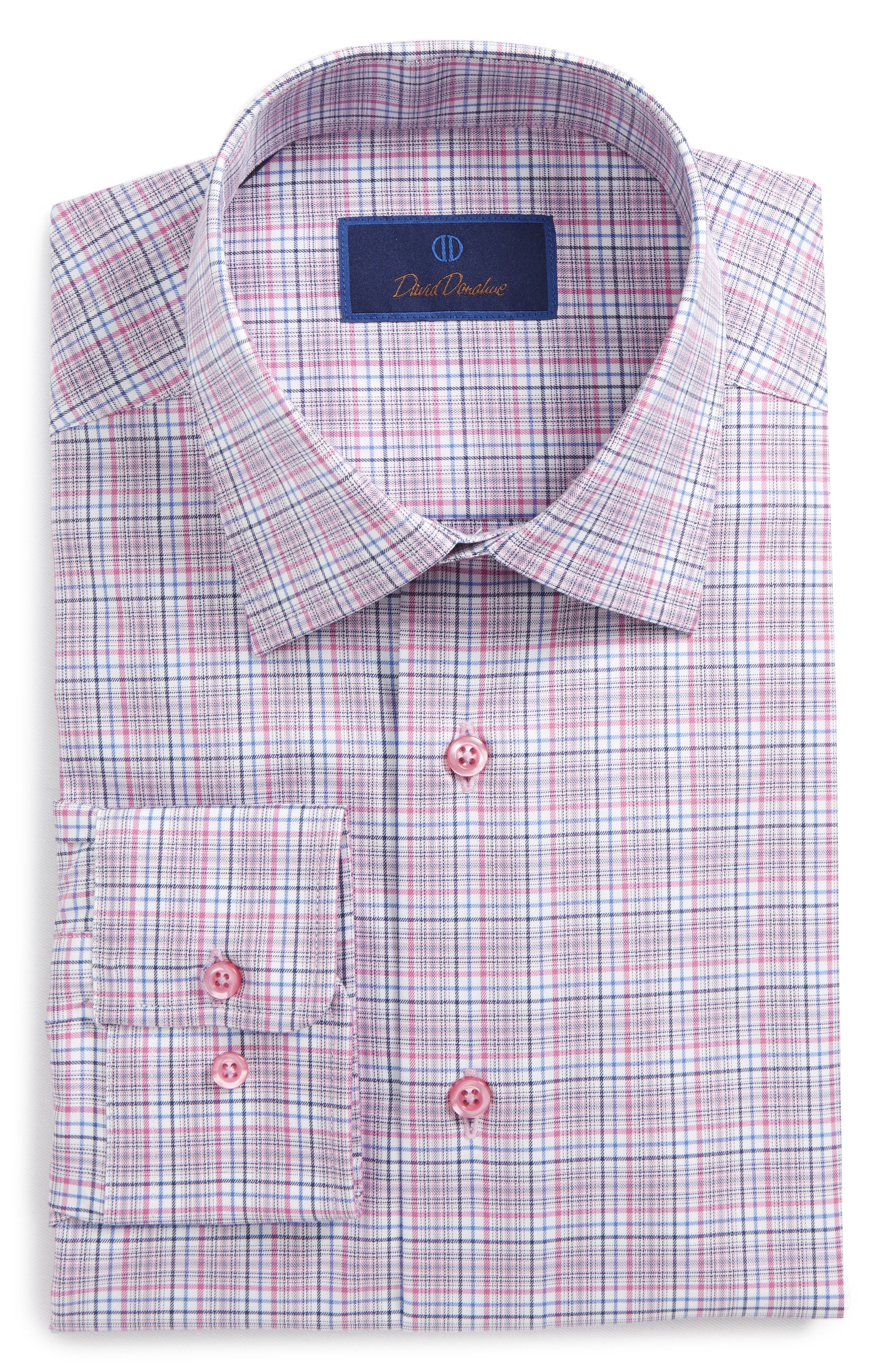 Regular Fit Plaid Dress Shirt,                         Main,                         color, 652