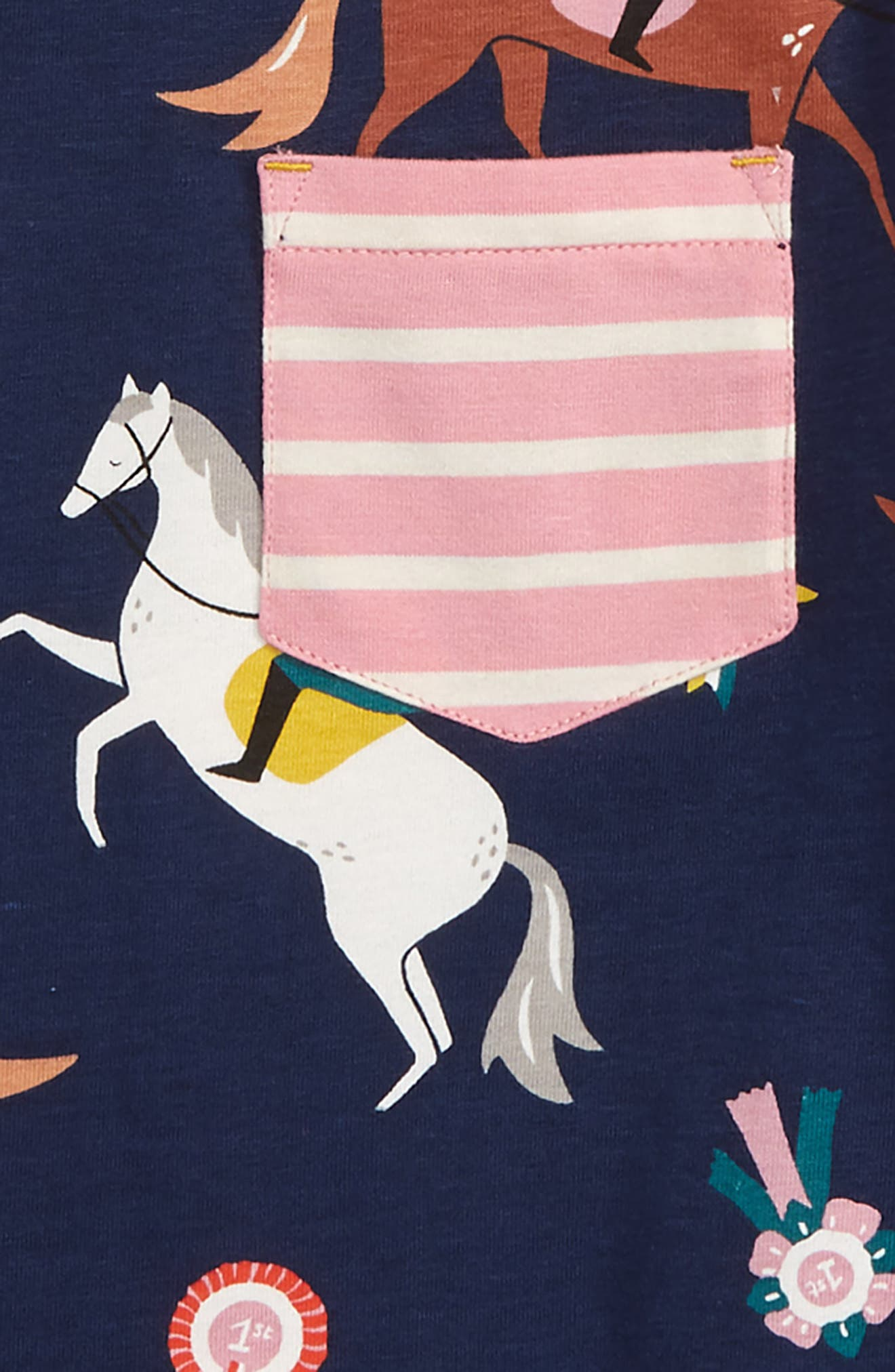 Hotchpotch T-Shirt,                             Alternate thumbnail 2, color,                             SCHOOL NAVY JUMPING PONIES