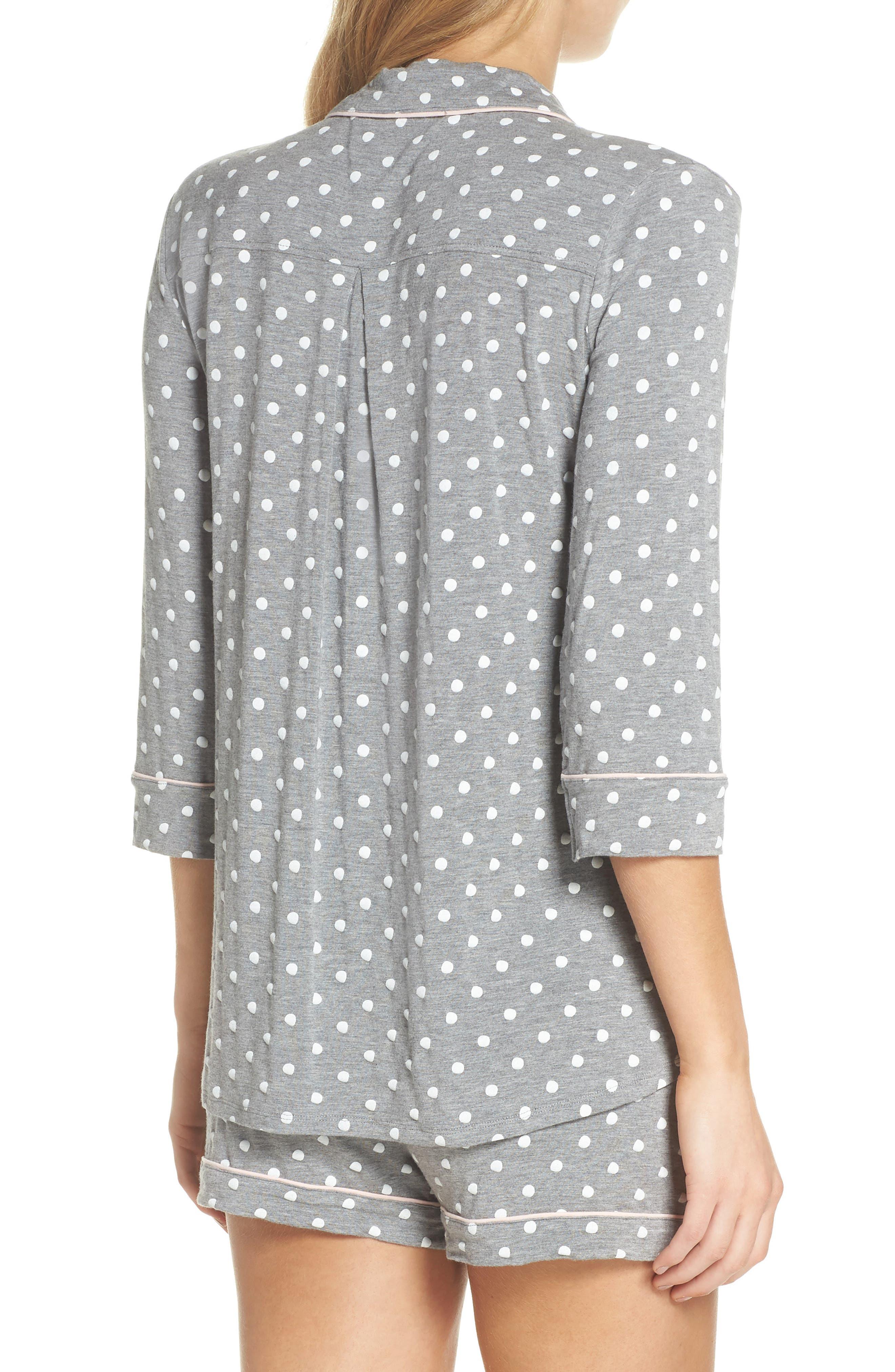 Modal Three-Quarter Sleeve Short Pajamas,                             Alternate thumbnail 2, color,                             H GREY